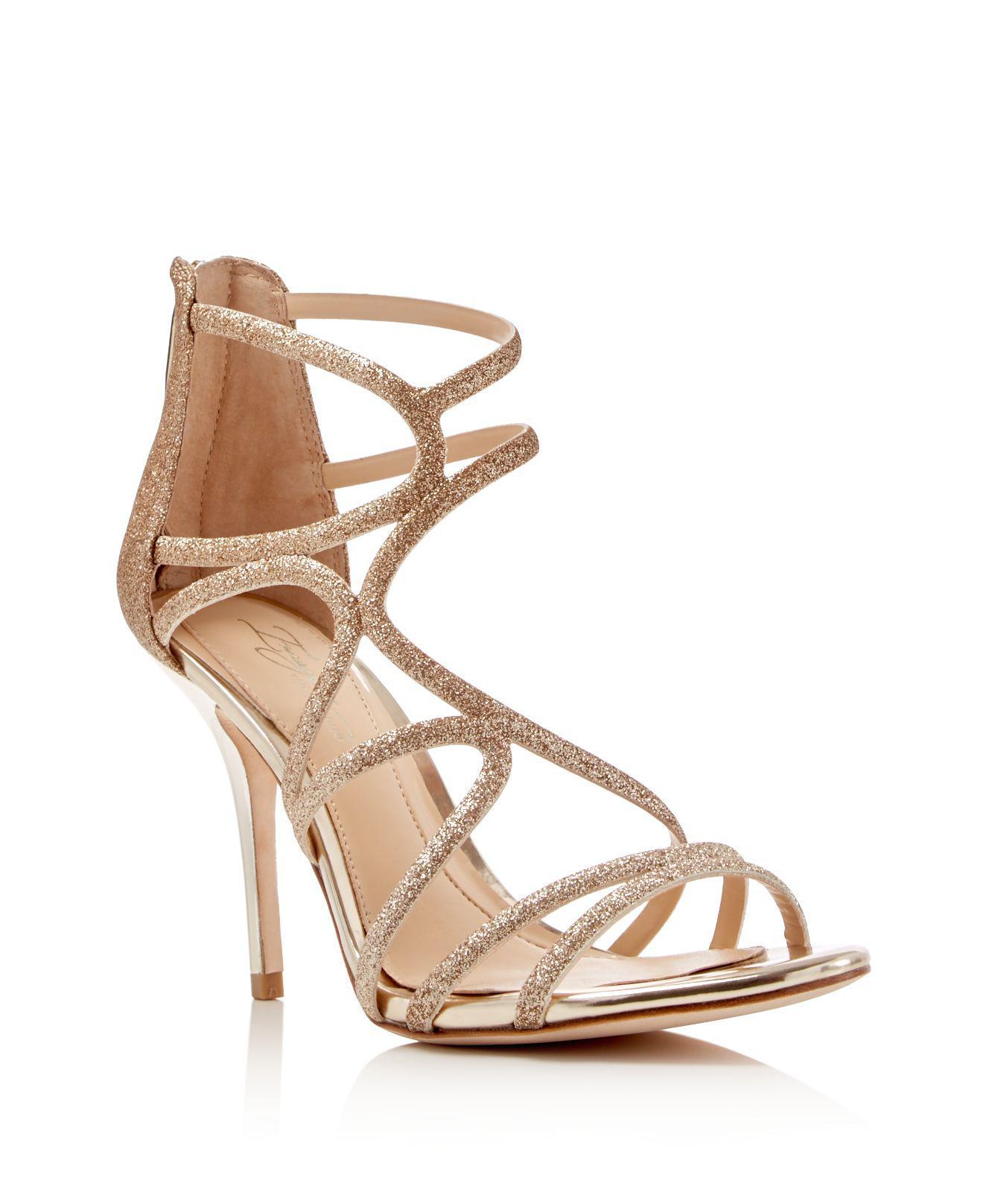 0408f1122a2 Imagine Vince Camuto Ranee Glitter Strappy Sandals in Metallic - Lyst