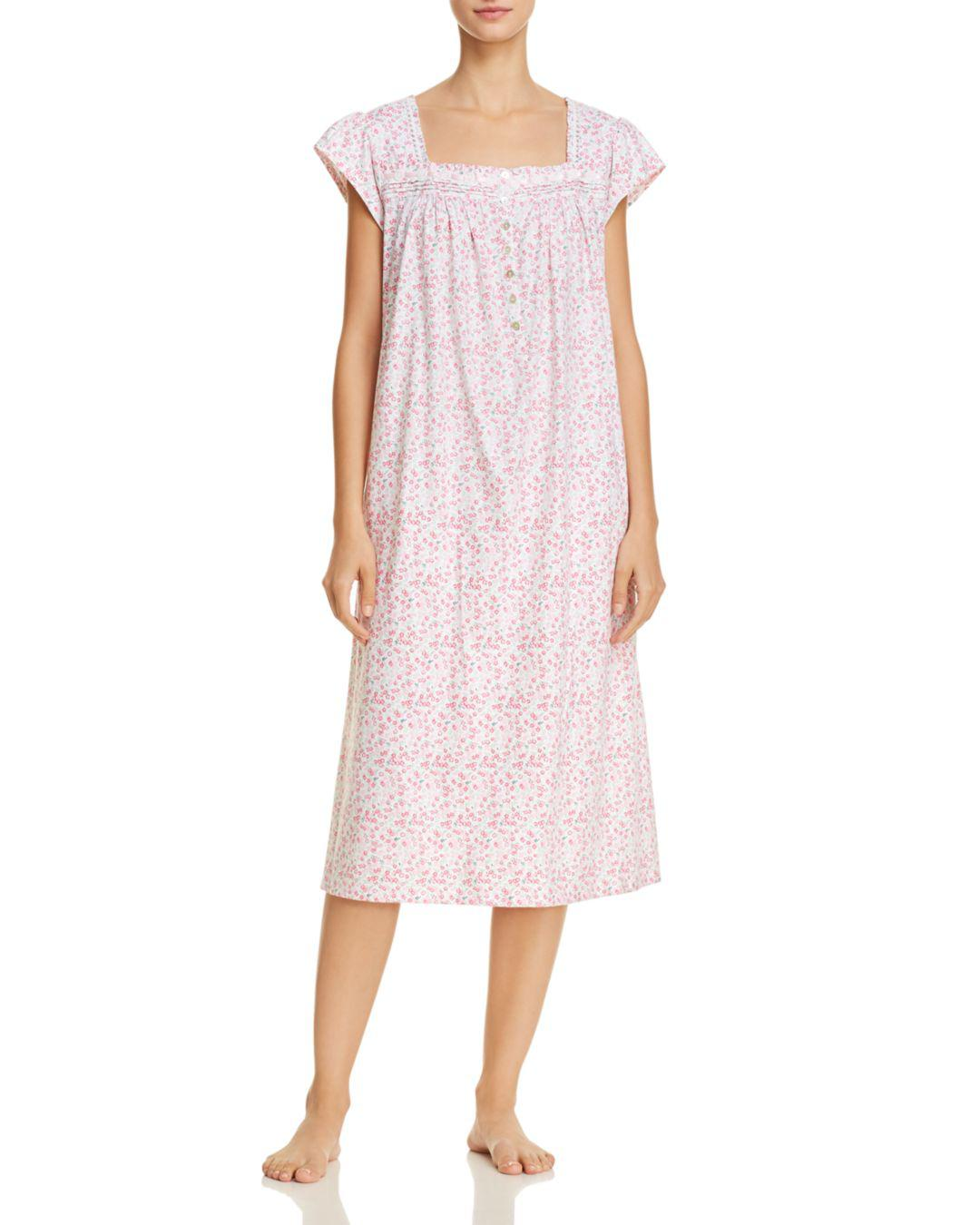 3bc570ca5d Lyst - Eileen West Floral Ballet Nightgown in Pink