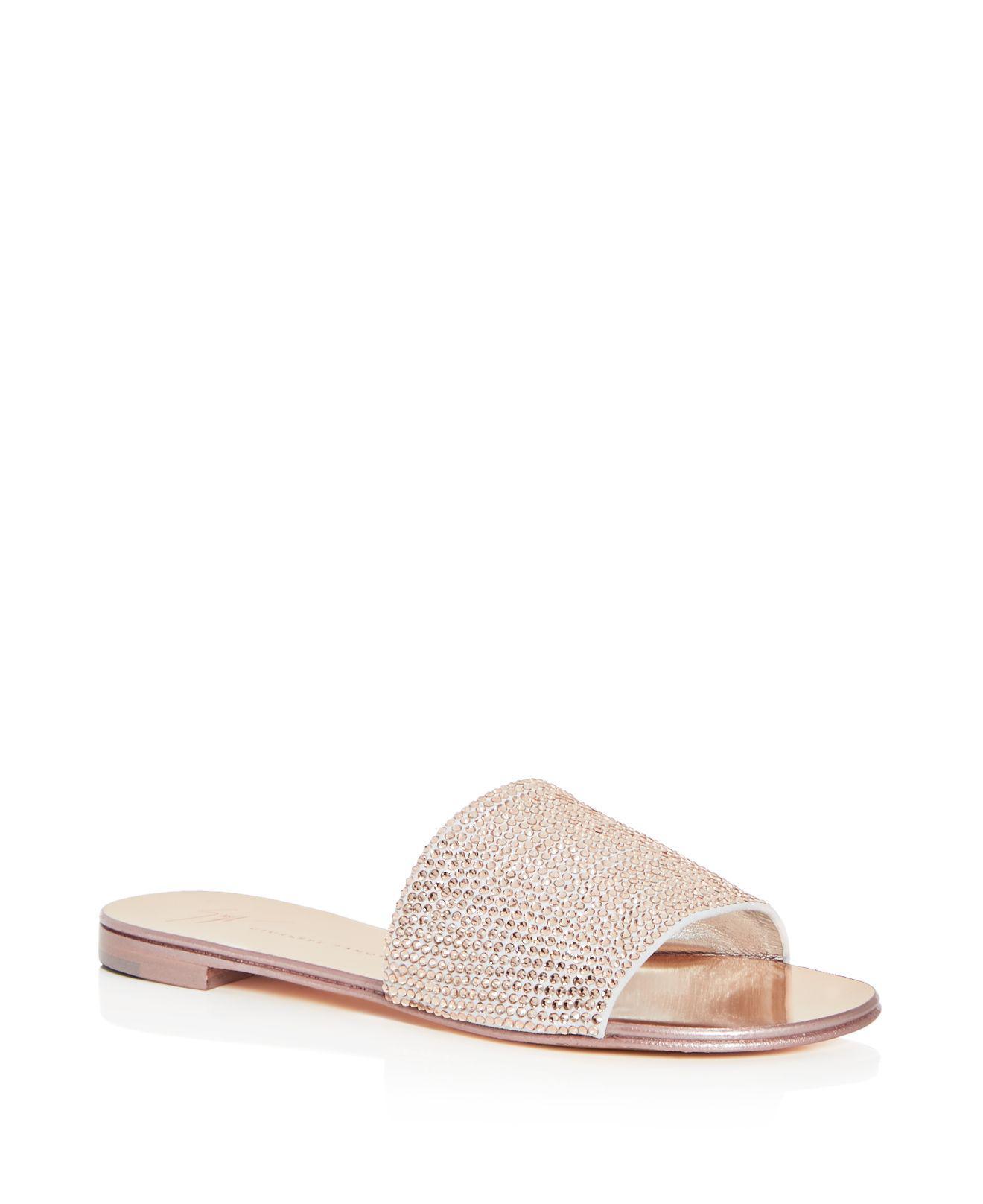 Giuseppe Zanotti Women's Swarovski Crystal Embellished Slide Sandals fILyklRpR