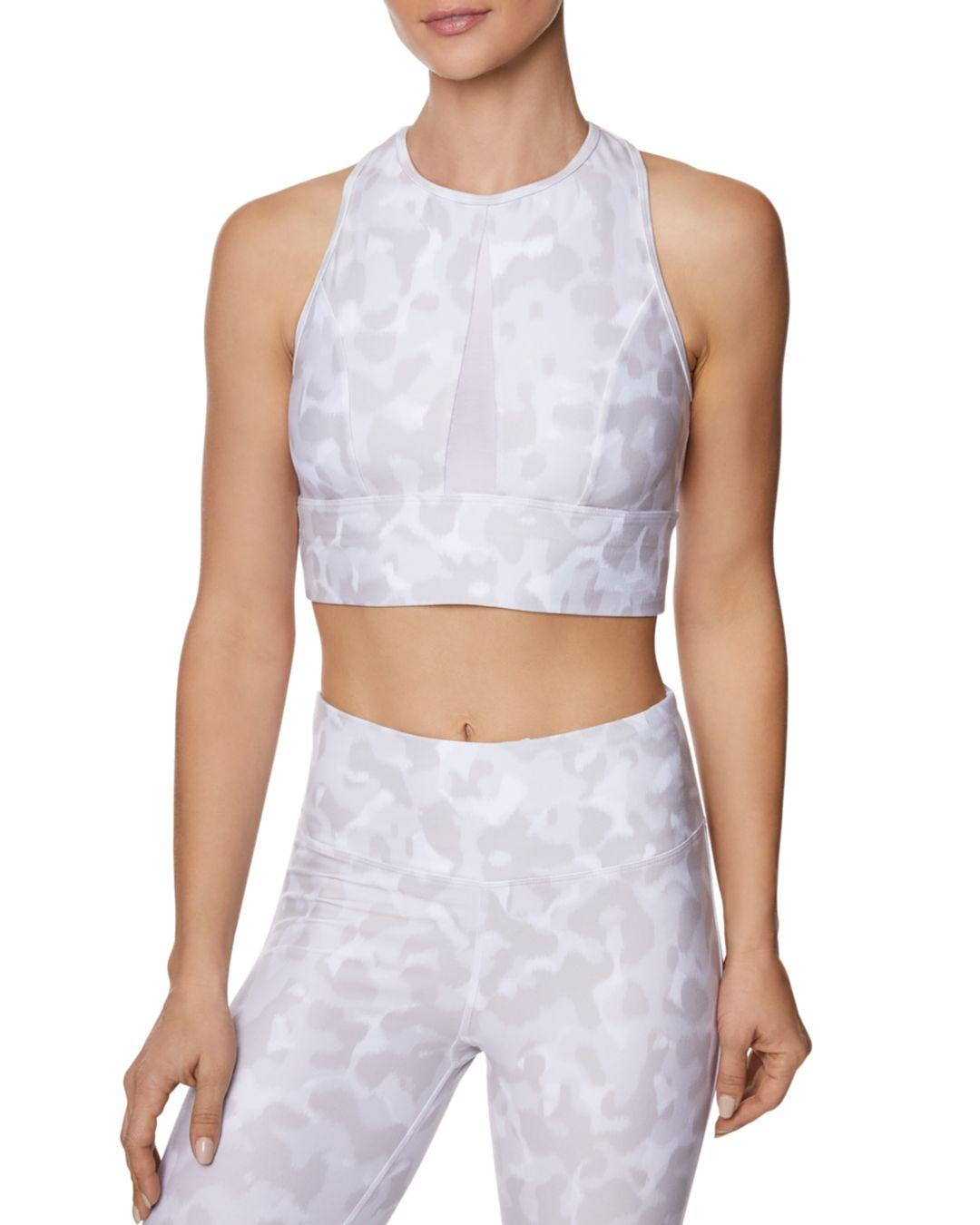 98aa34b75db15 Betsey Johnson Camo Animal-print Sports Bra in White - Lyst