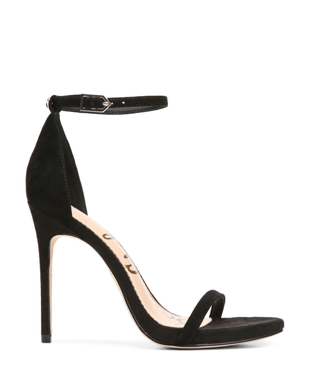 49719f4265710 Lyst - Sam Edelman Women s Ariella High-heel Ankle Strap Sandals in Black -  Save 67%