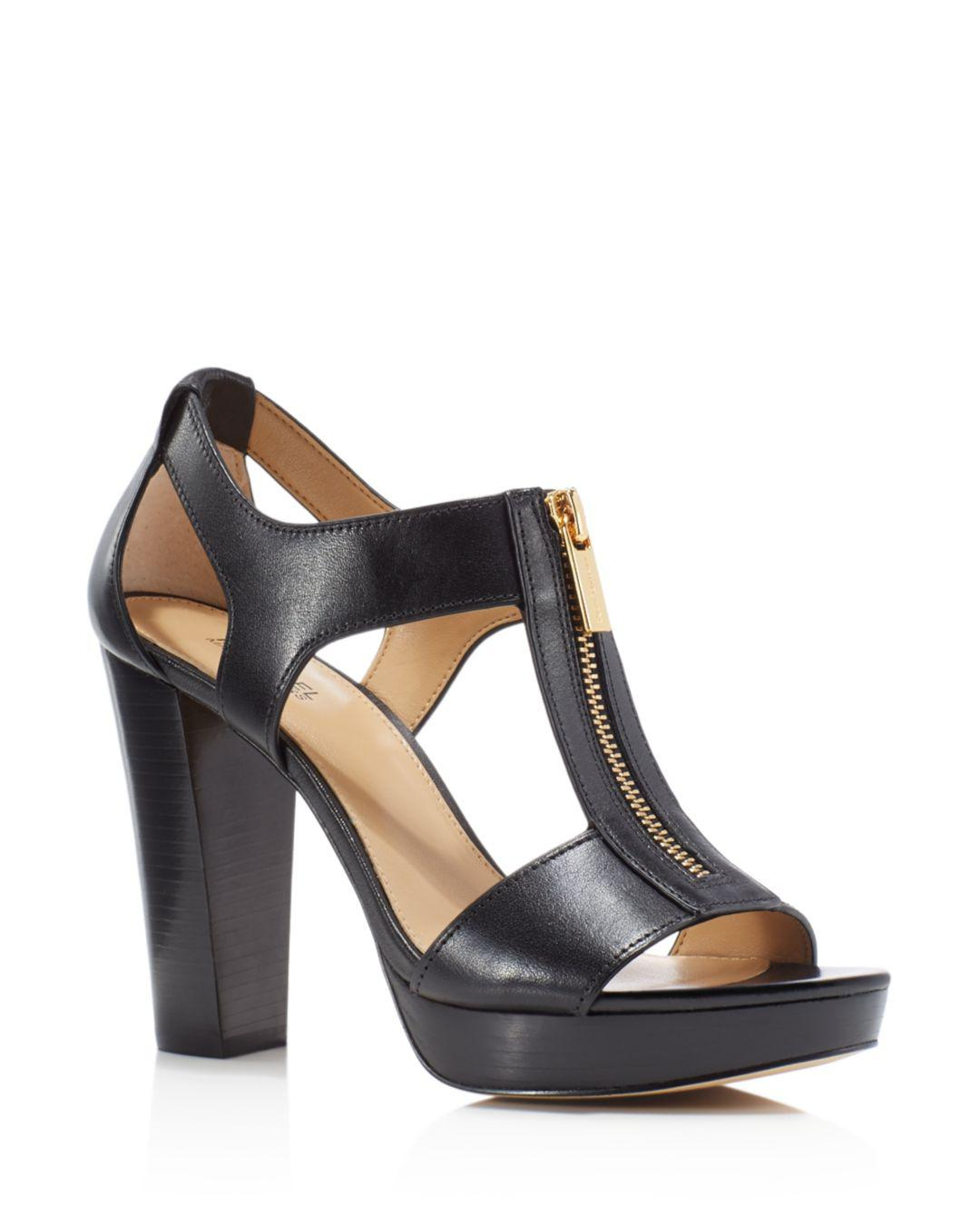 a958b20422b0 MICHAEL Michael Kors. Women s Black Berkley T-strap Platform Dress Sandals