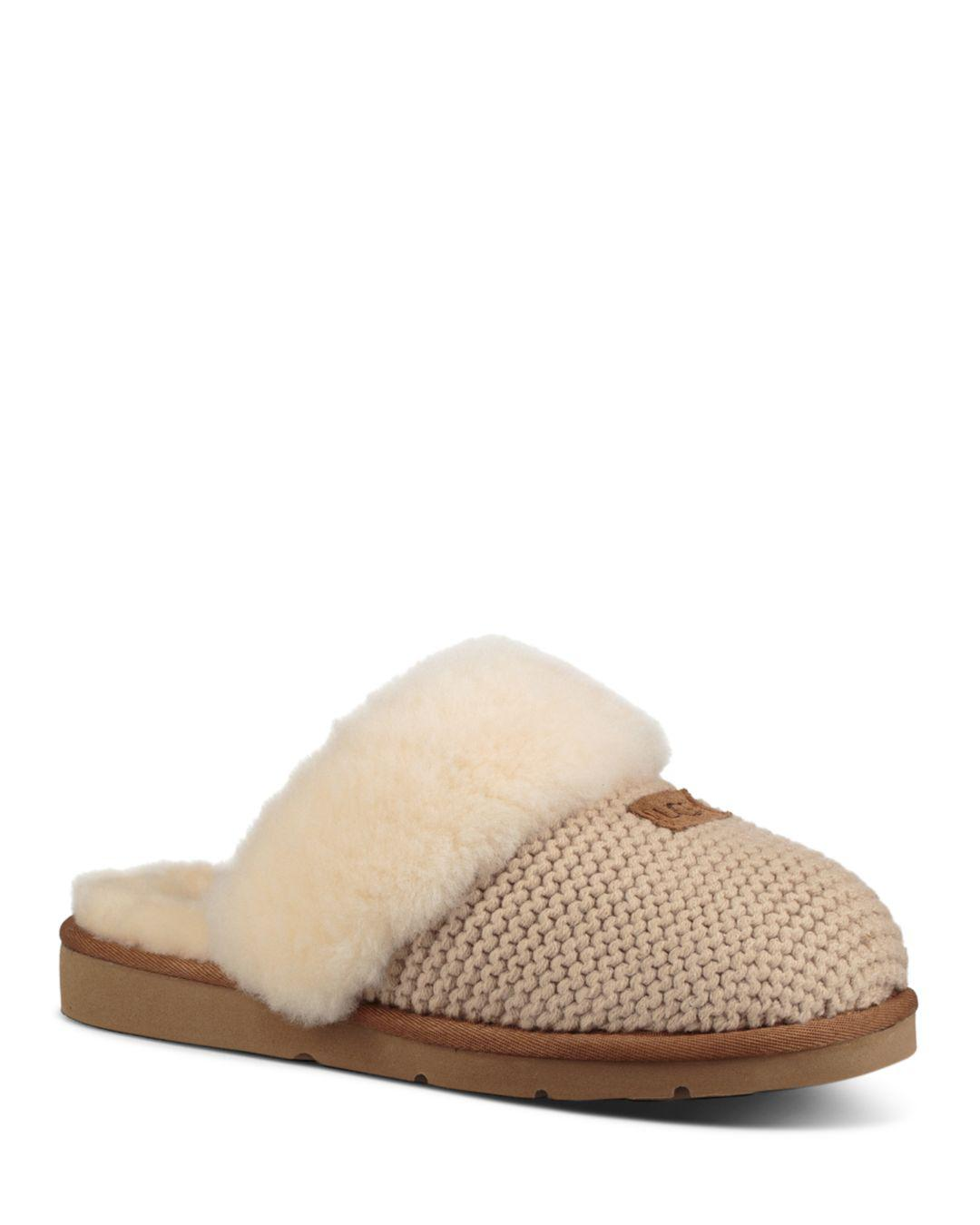 Lyst - Ugg Women s Cozy Knit Slippers in Natural 7526de368