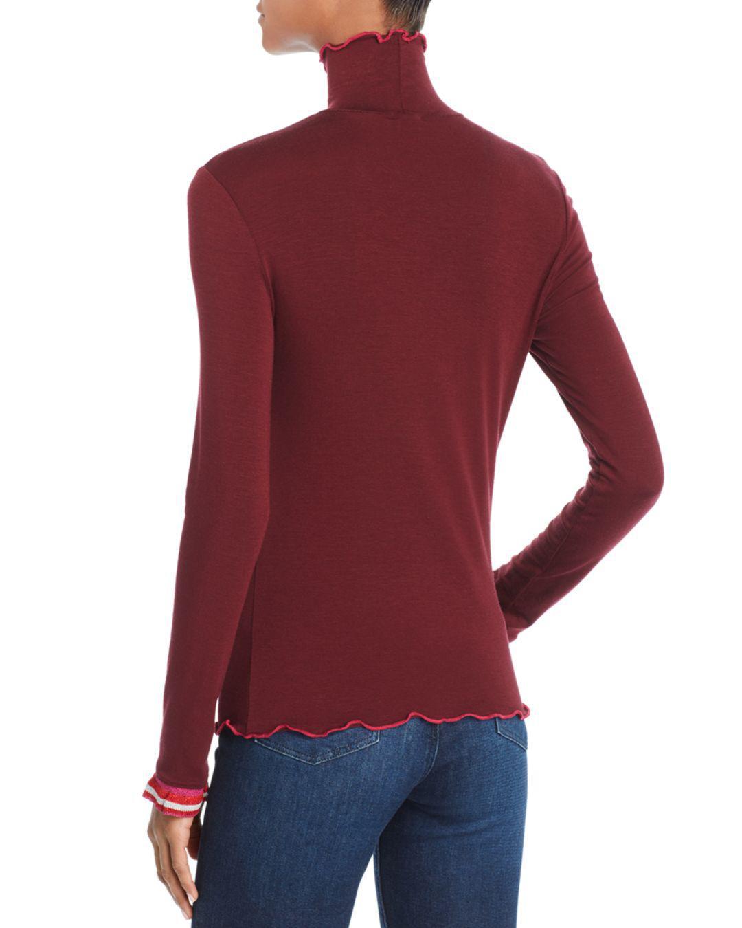 89c915801f Lyst - Splendid X Margherita Dolce Vita Turtleneck Tee in Red