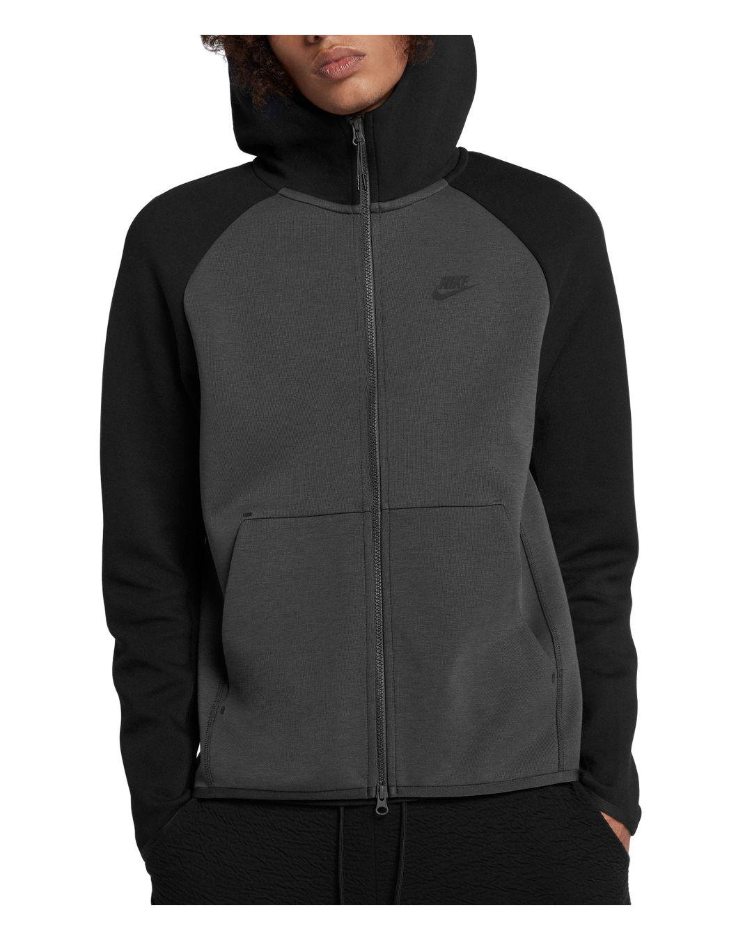 33feac33afa9c Lyst - Nike Tech Fleece Color-block Hoodie in Black for Men