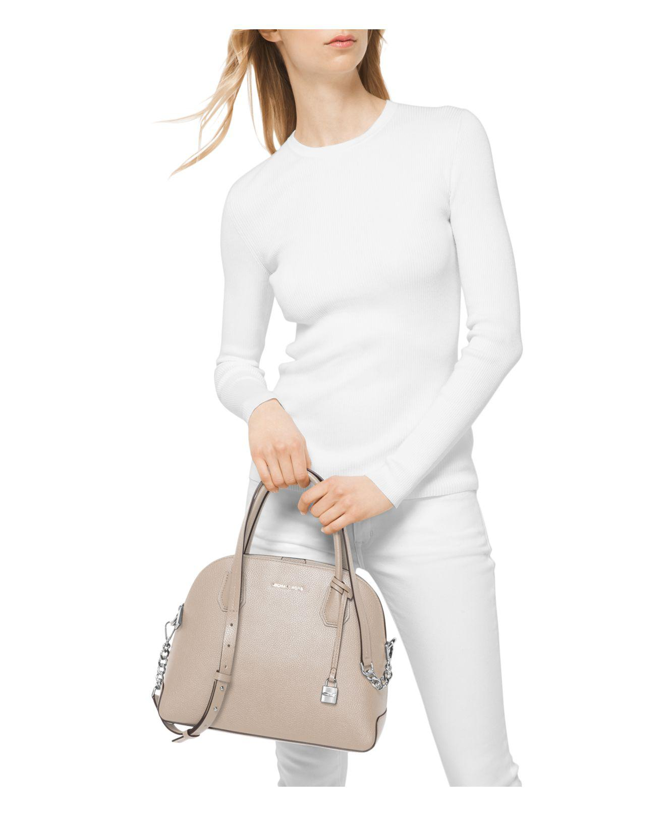517586a9402a MICHAEL Michael Kors Studio Mercer Dome Large Pebbled Leather ...
