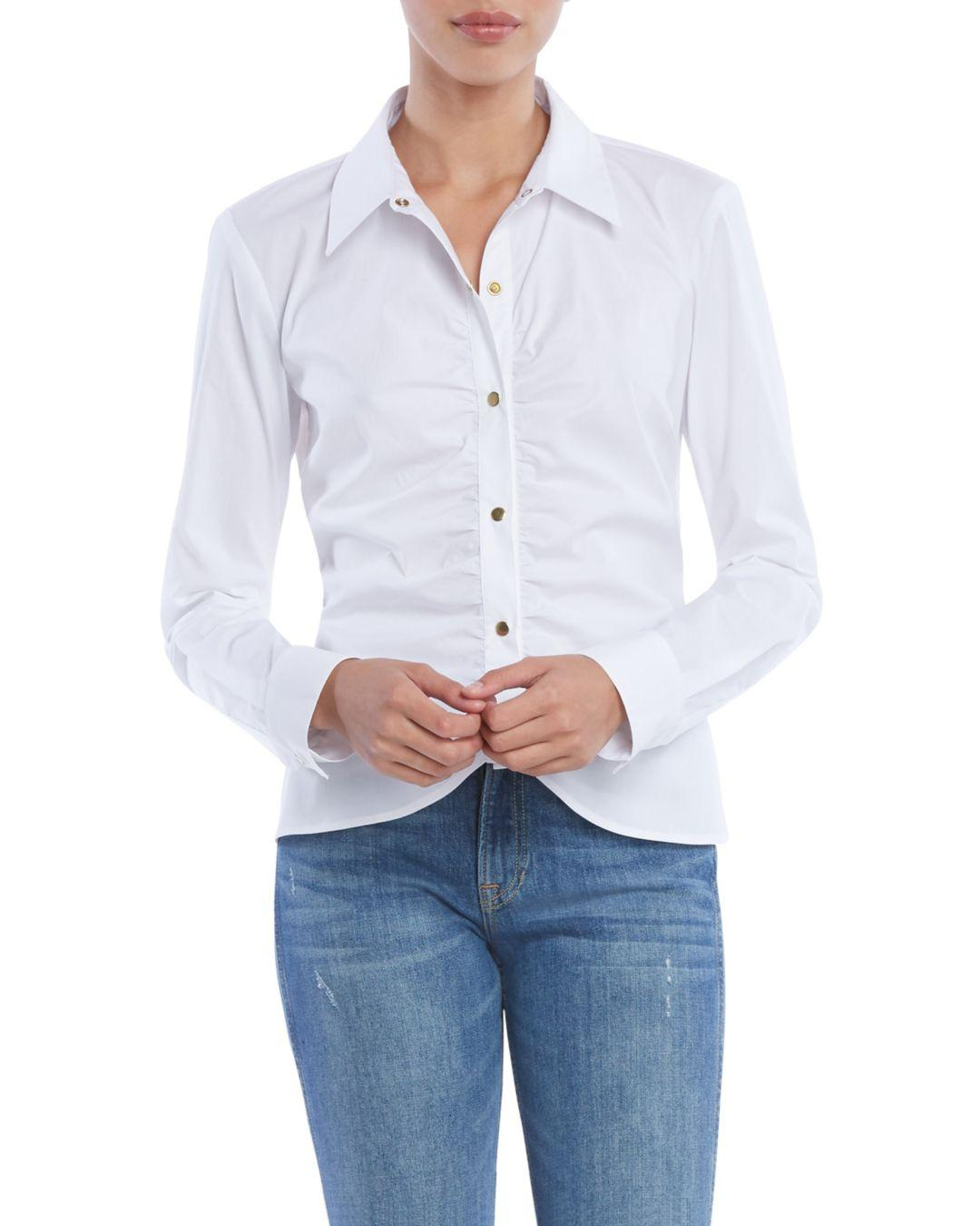 6174e327eb2e25 Lyst - Bailey 44 Liaison Ruched Shirt in White
