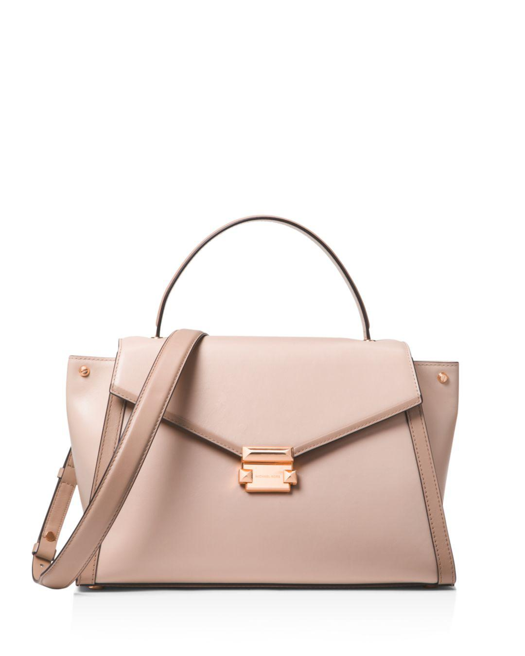 66c6b387847c Michael Michael Kors Whitney Large Leather Satchel in Pink - Lyst