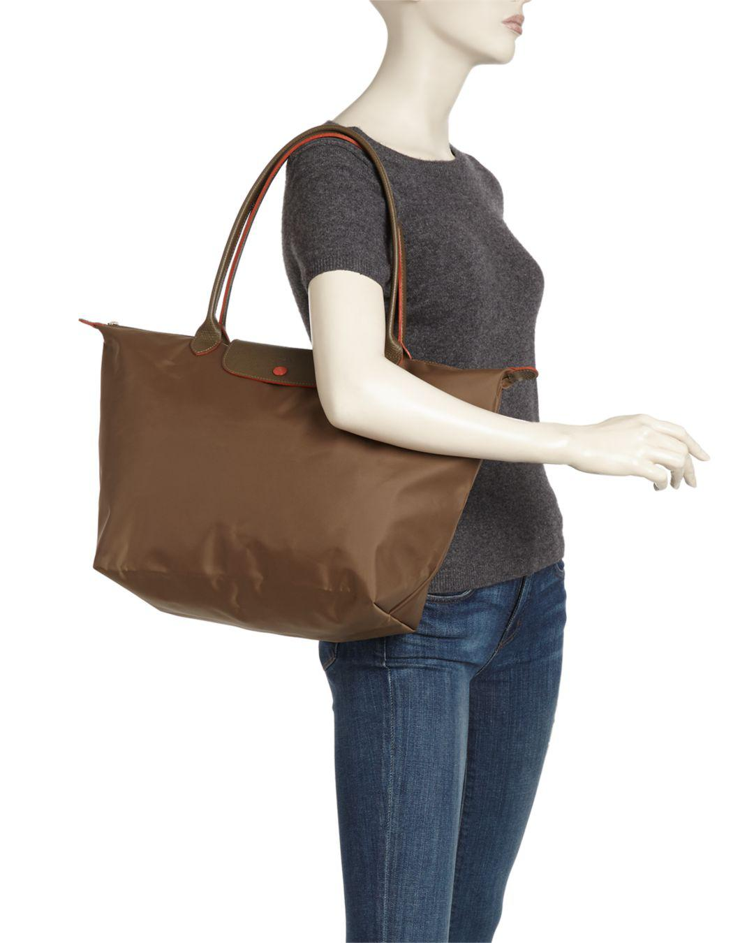6c956a5bbf45 Lyst - Longchamp Le Pliage Club Large Nylon Shoulder Tote Bag