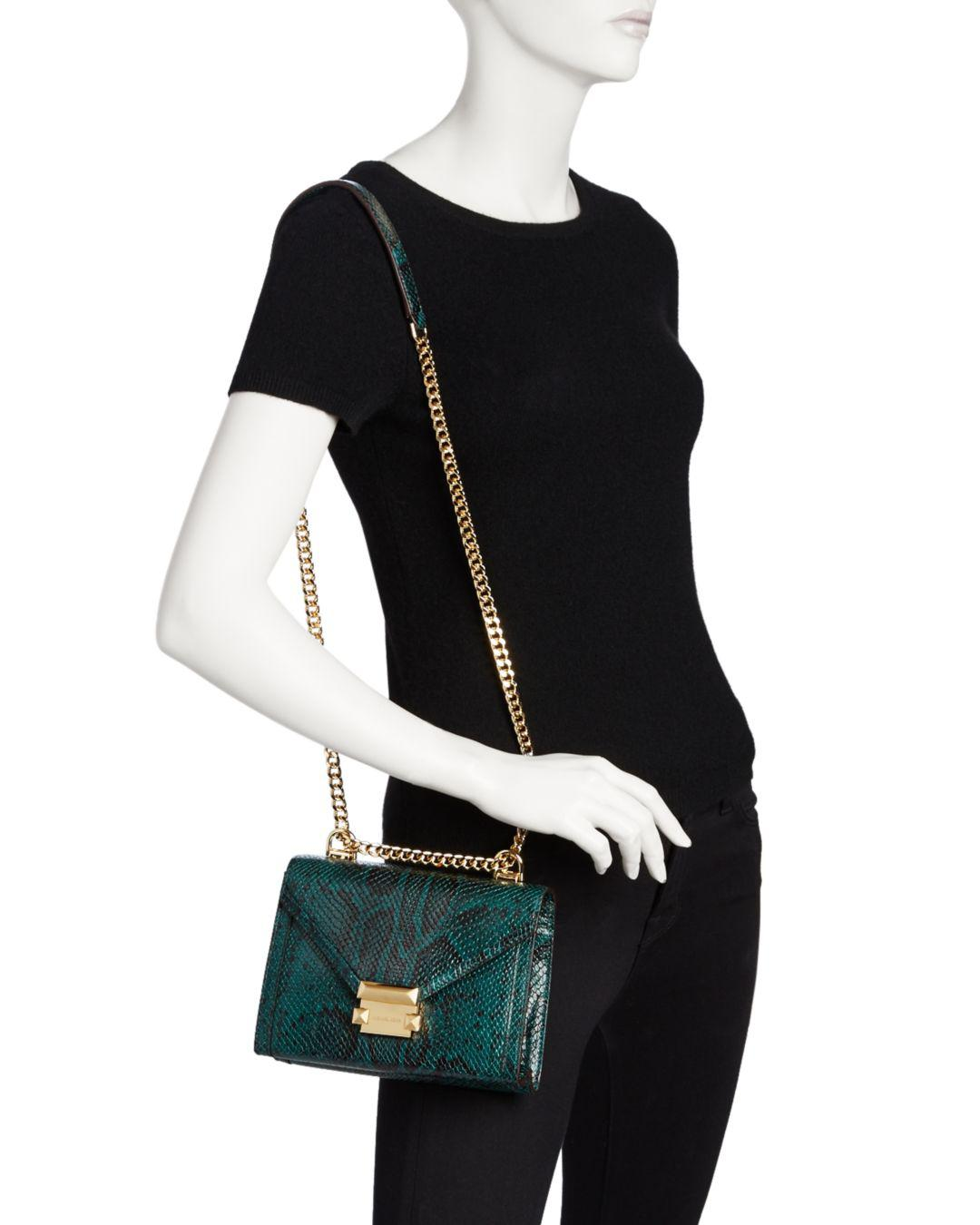 76efa9c64c43 MICHAEL Michael Kors Whitney Small Leather Shoulder Bag in Green - Lyst