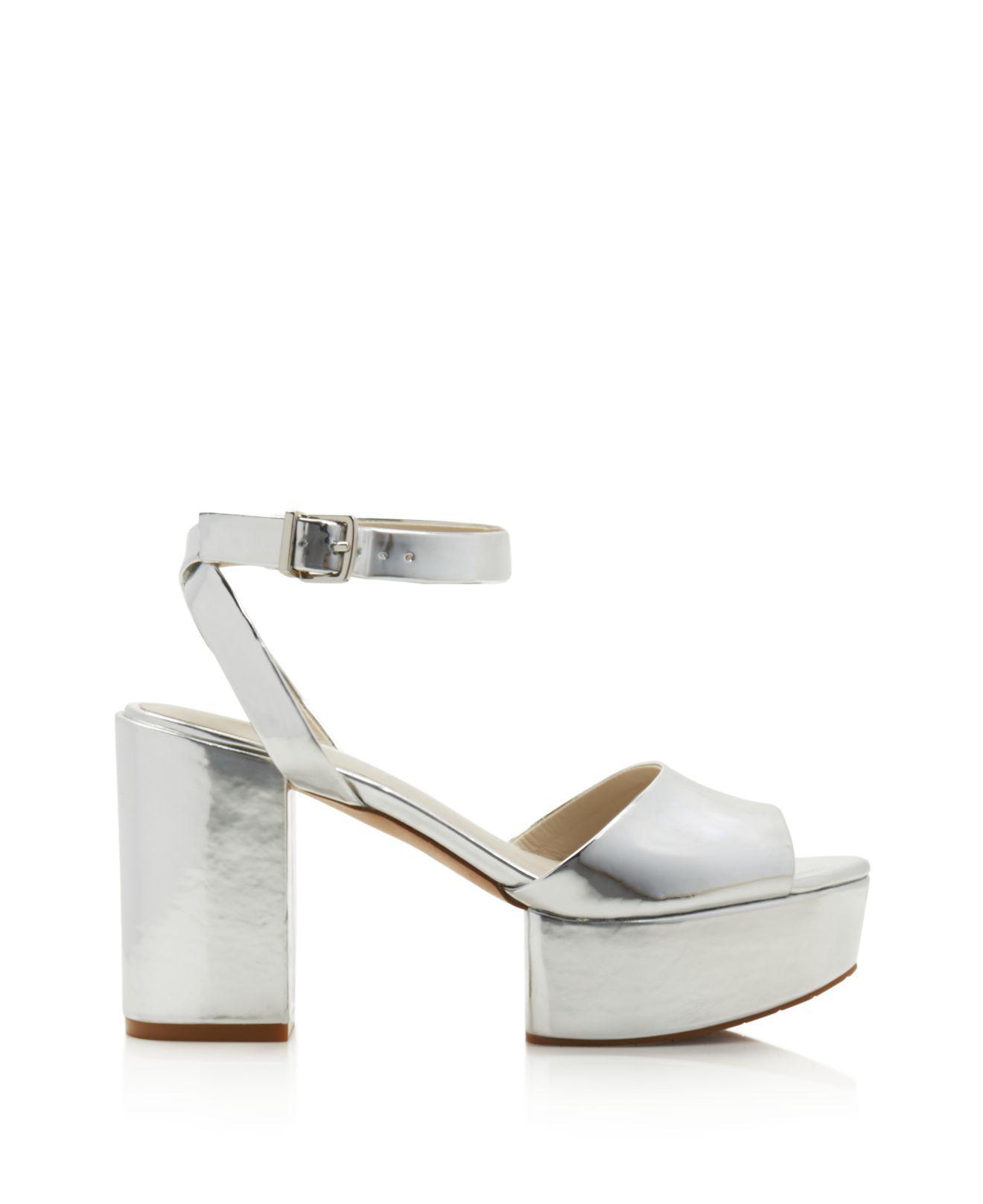 Kenneth Cole Women's Phoenix Leather Platform Ankle Strap Sandals TYKfniOF4y