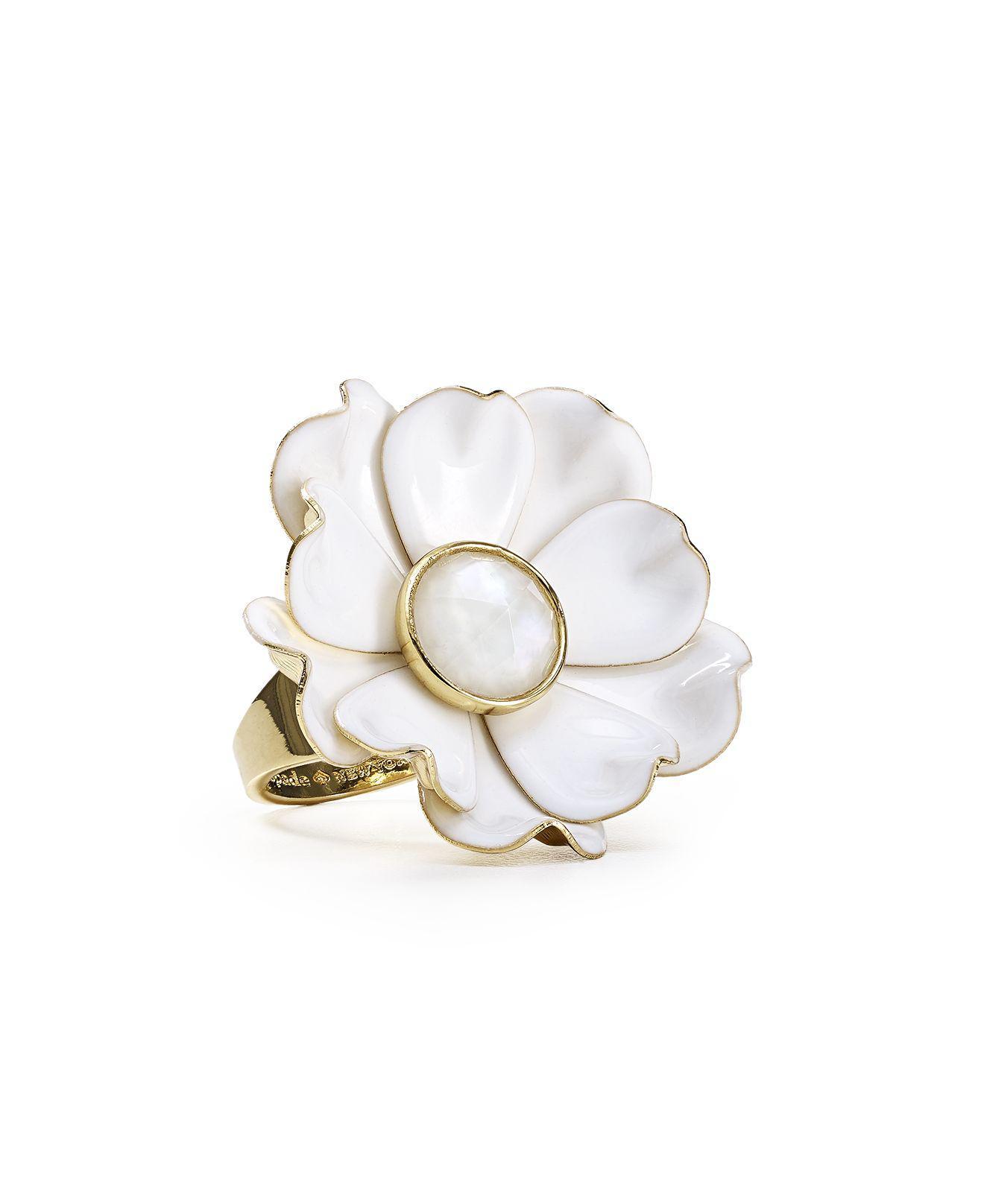 Lyst Kate Spade Flower Ring In White