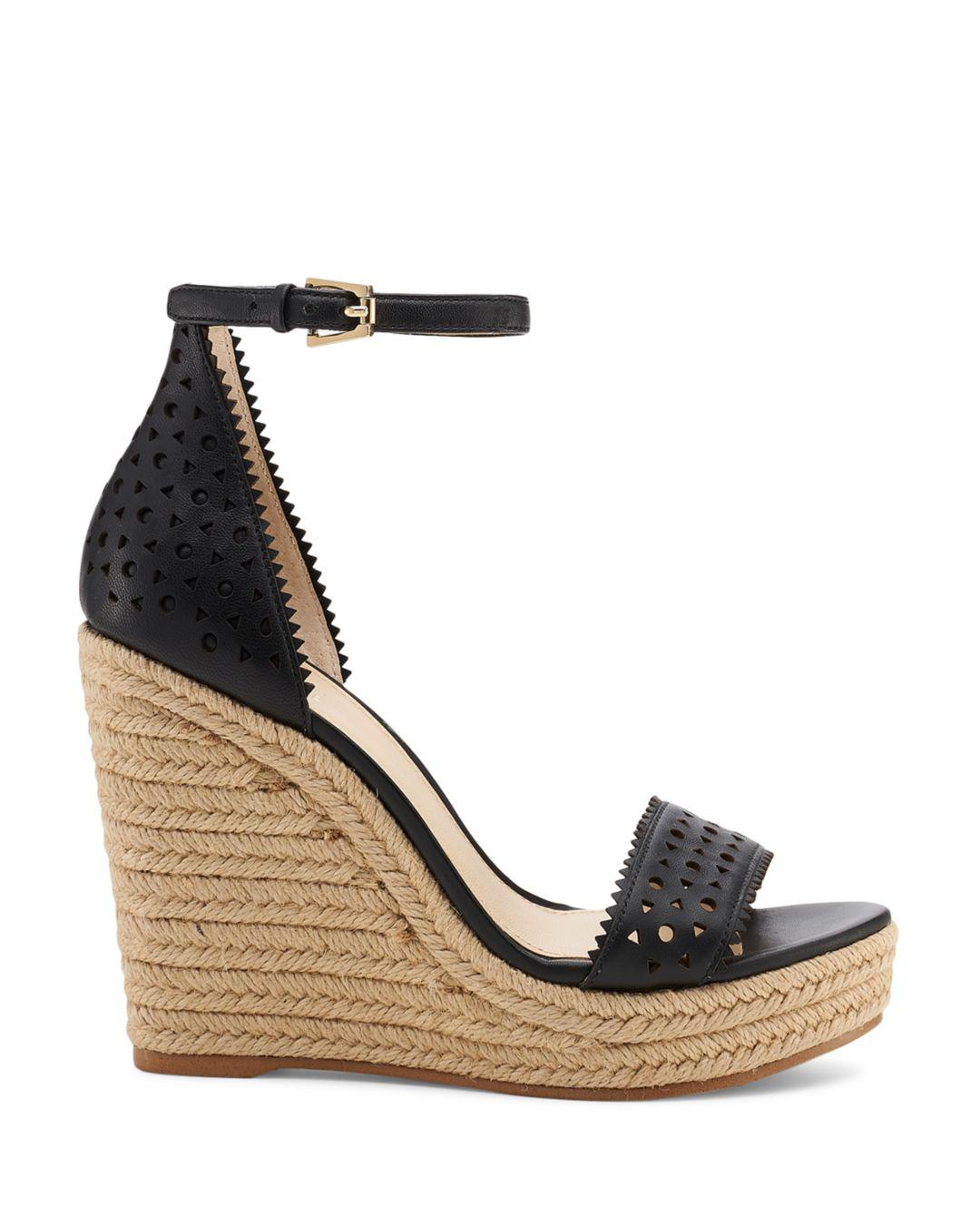 e47908d8e37 Lyst - Botkier Women s Jamie Leather Espadrille Wedge Sandals in Black