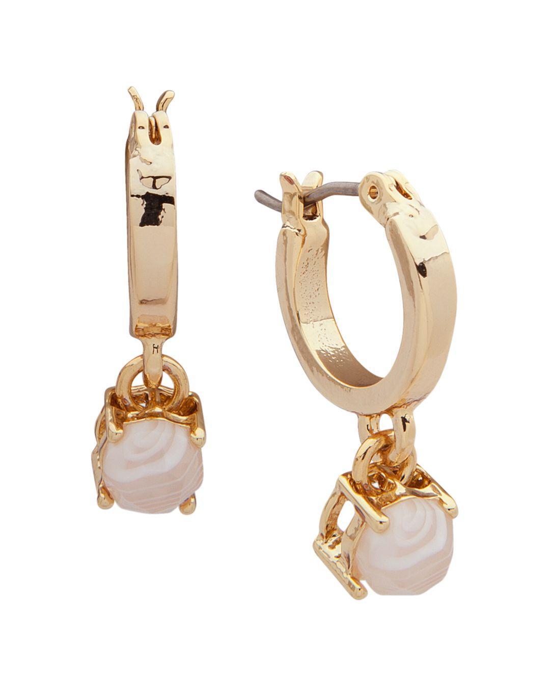 c38e2337335ca Lyst - Ralph Lauren Lauren Statement Huggie Hoop Earrings