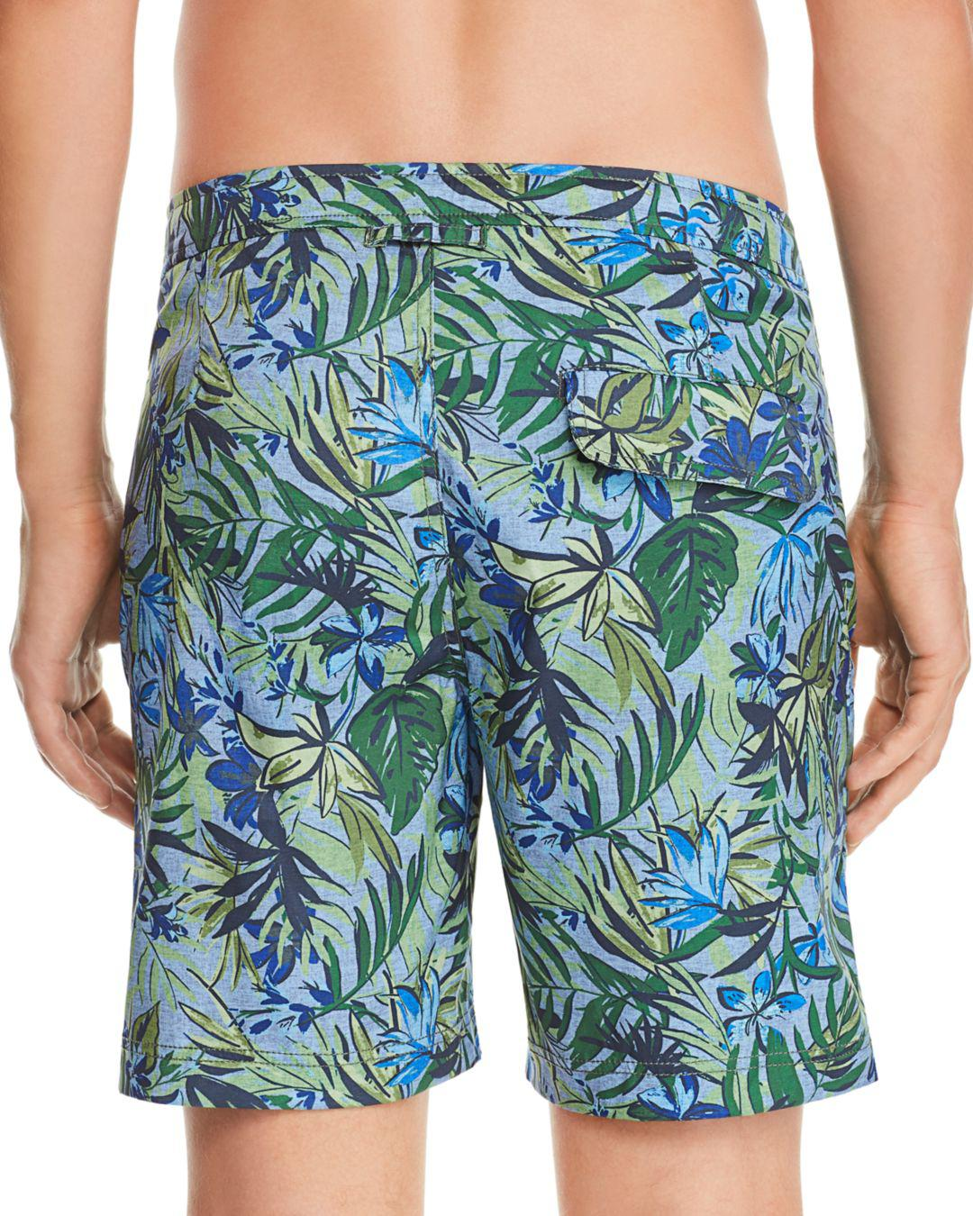 58f9a2233f Onia Calder Tropical-print Swim Trunks in Blue for Men - Lyst