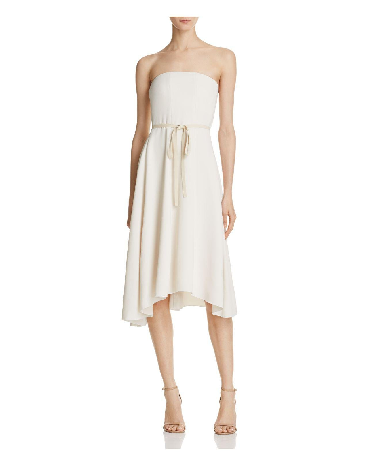 Lyst Theory Trelle Strapless Dress In White