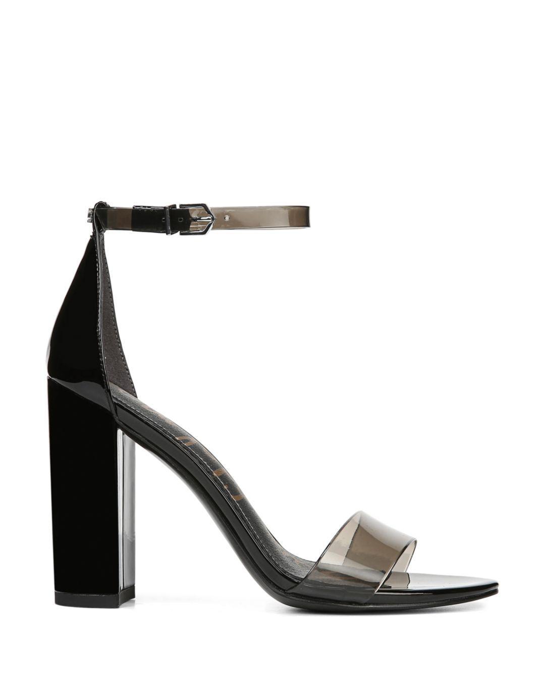 c63f3c25d85 Lyst - Sam Edelman Women s Yaro Sheer Ankle Strap High-heel Sandals in Black