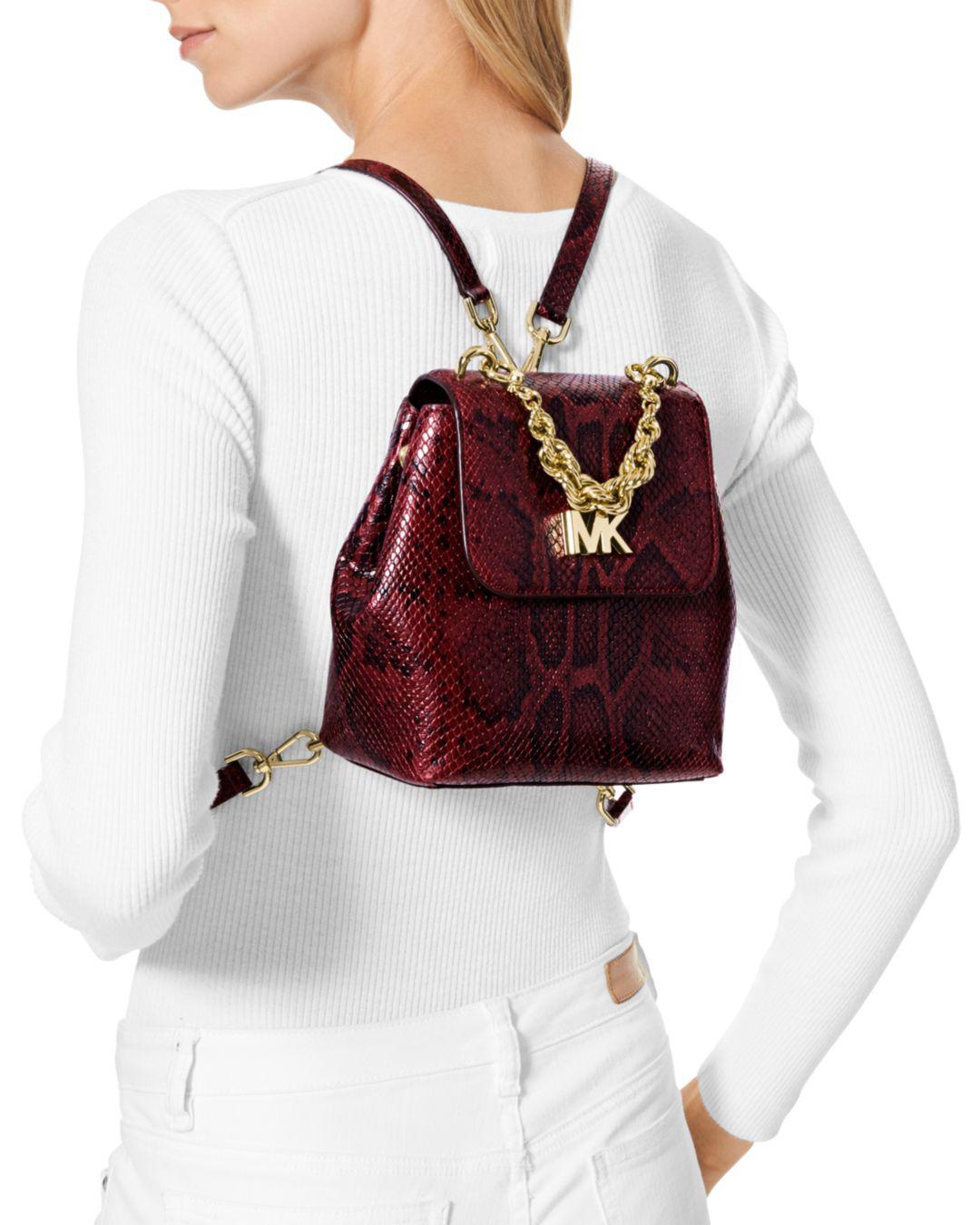 4dcfbd0e3d31b0 MICHAEL Michael Kors Mott Mini Twist Chain Messenger Backpack - Lyst