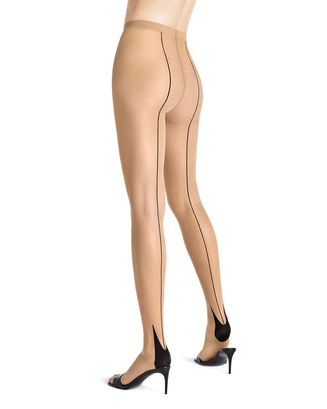 68957e5ab56 Lyst - Wolford Horizon Back-seam Tights in Black