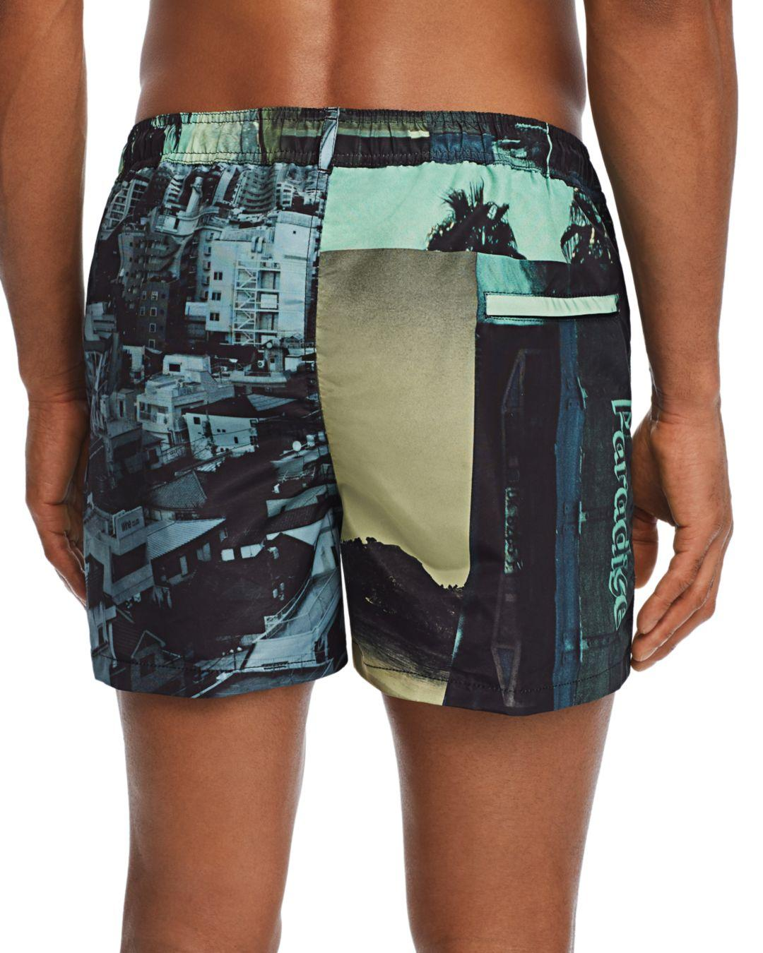 3a0cff24f5 Lyst - PS by Paul Smith Paradise Swim Trunks in Green for Men