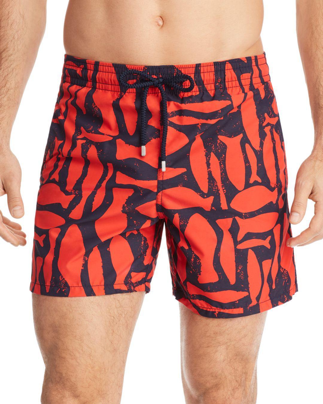 e0baa26834 Lyst - Vilebrequin Moorea Fish Swim Trunks in Red for Men
