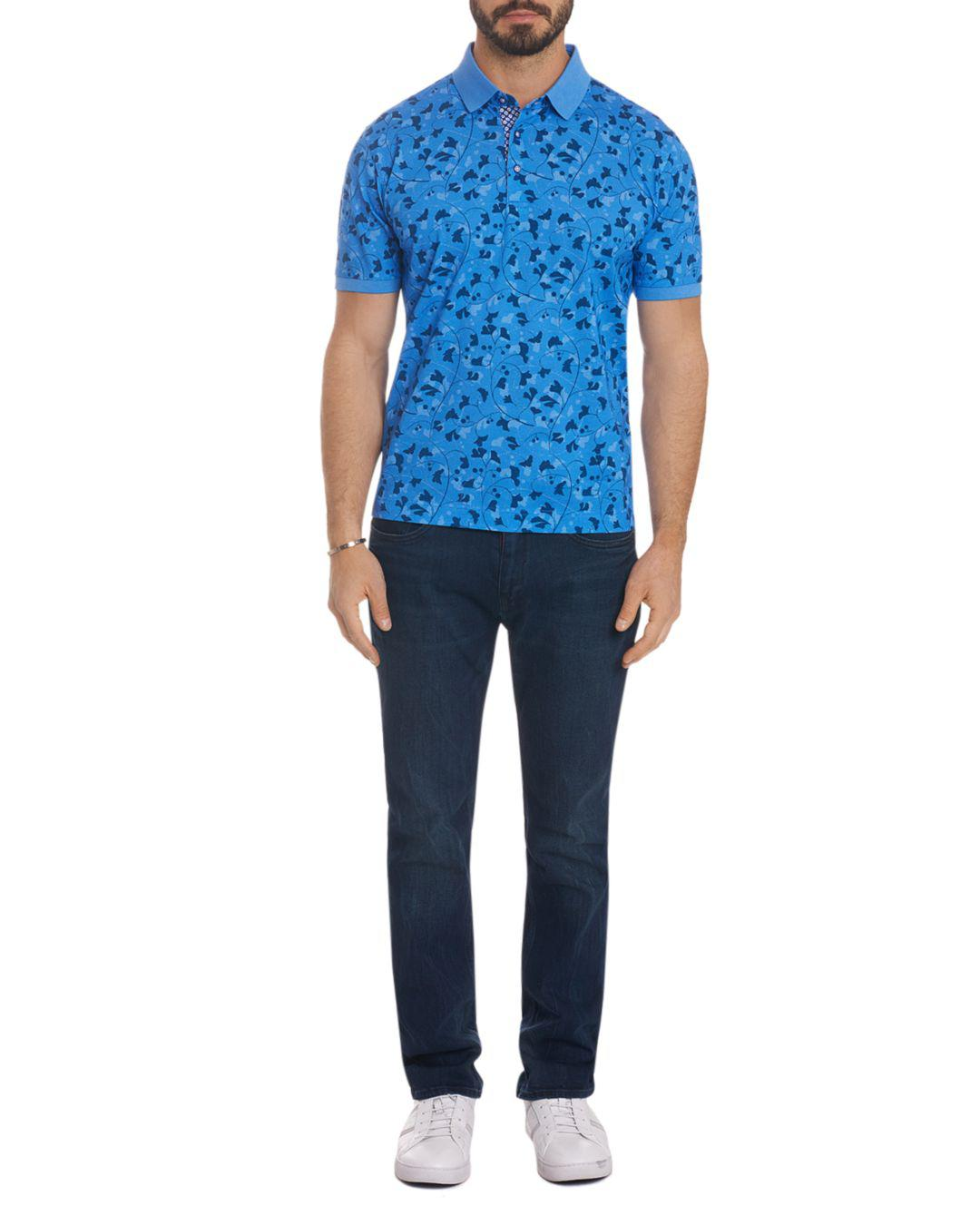 f990e9c4 Robert Graham - Blue Ginko Classic Fit Polo Shirt for Men - Lyst. View  fullscreen