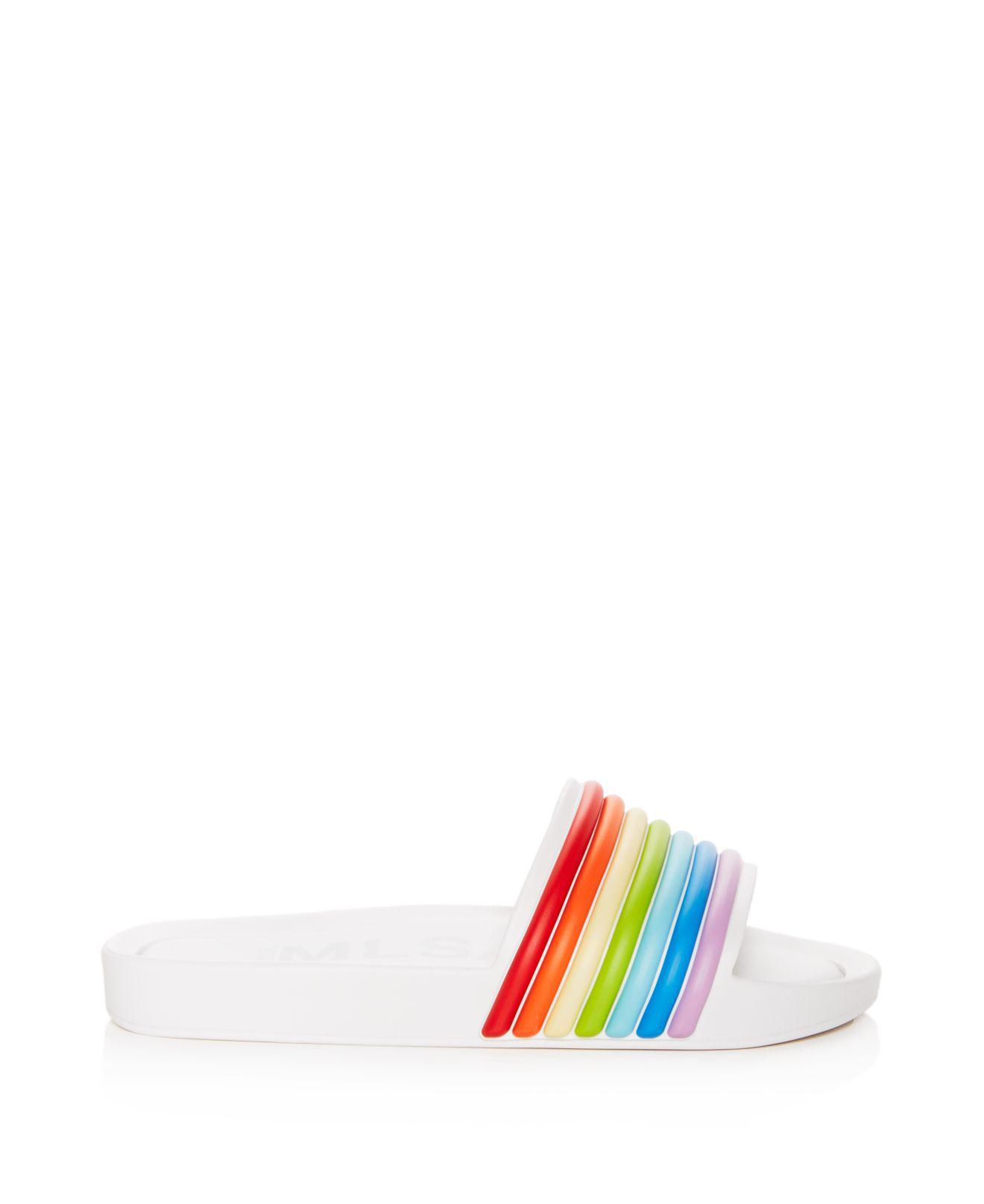 Melissa Women's 3-d Rainbow Pool Slide Sandals Aa4sbJ3