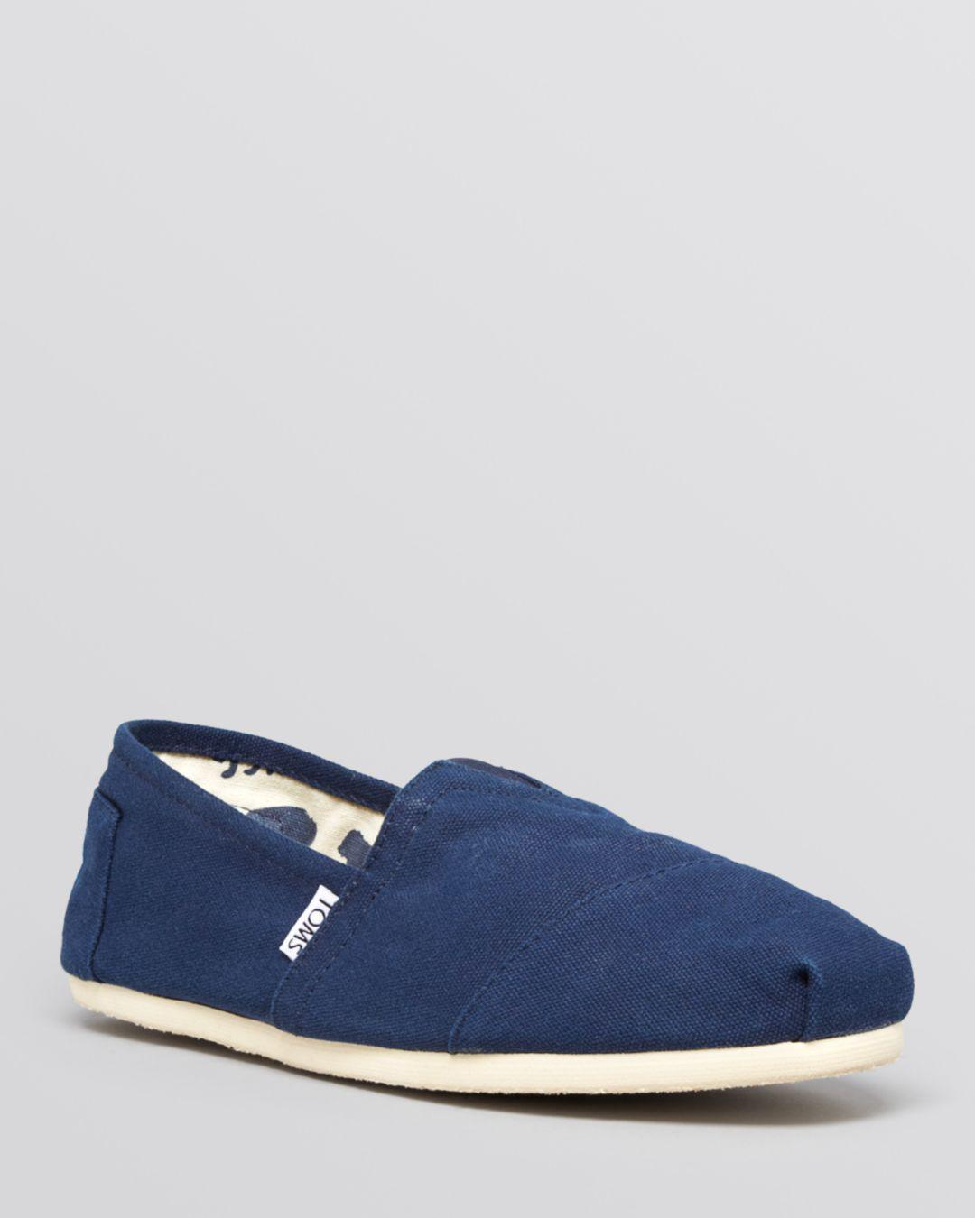 2793c043247 TOMS - Blue Men s Alpargata Classic Canvas Slip Ons for Men - Lyst. View  fullscreen