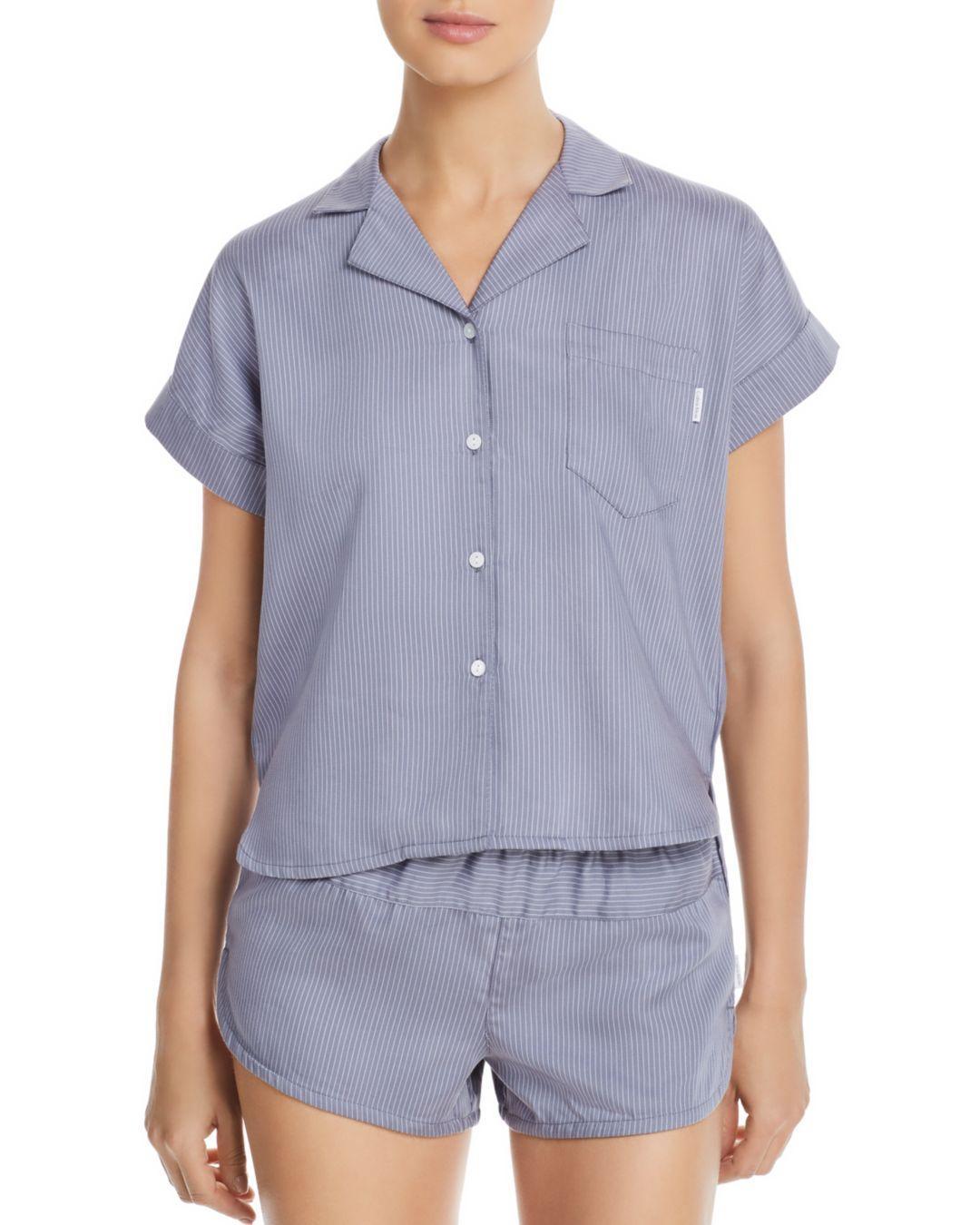 Calvin Klein - Blue Striped Sleep Tunic - Lyst. View fullscreen 68b9fcbc9