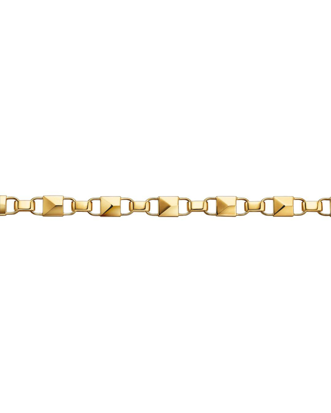 f1fd081ed6ad3 Lyst - Michael Kors Mercer Link 14k Gold-plated Sterling Silver Bracelet in  Metallic - Save 2%