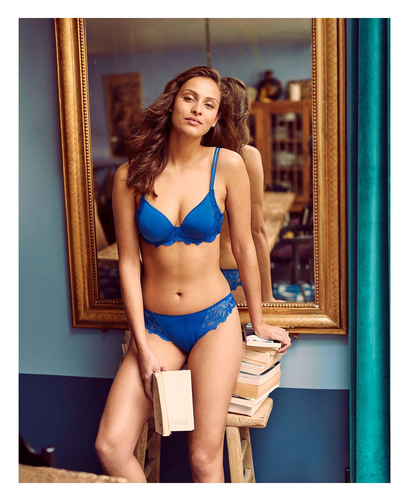 efdf0c4863ee8 Lyst - Simone Perele Simone Pérèle Amour 3d Plunge Contour Bra in Blue