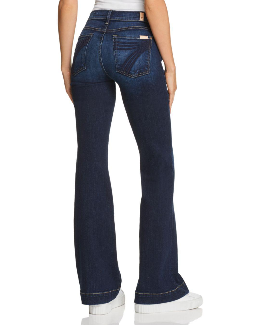 8aa2d0cb37 7 For All Mankind Dojo Flared Jeans In B(air) Authentic Fate in Blue - Lyst