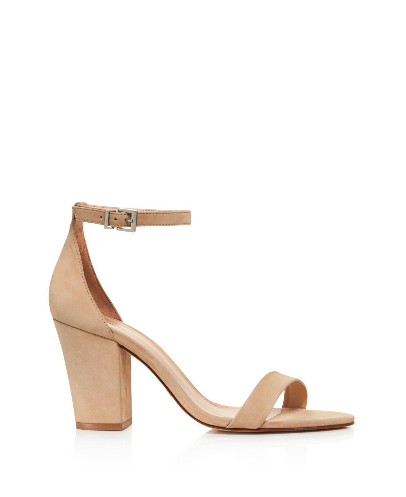 Schutz Women's Enida Suede Block Heel Ankle Strap Sandals M1ekKoza