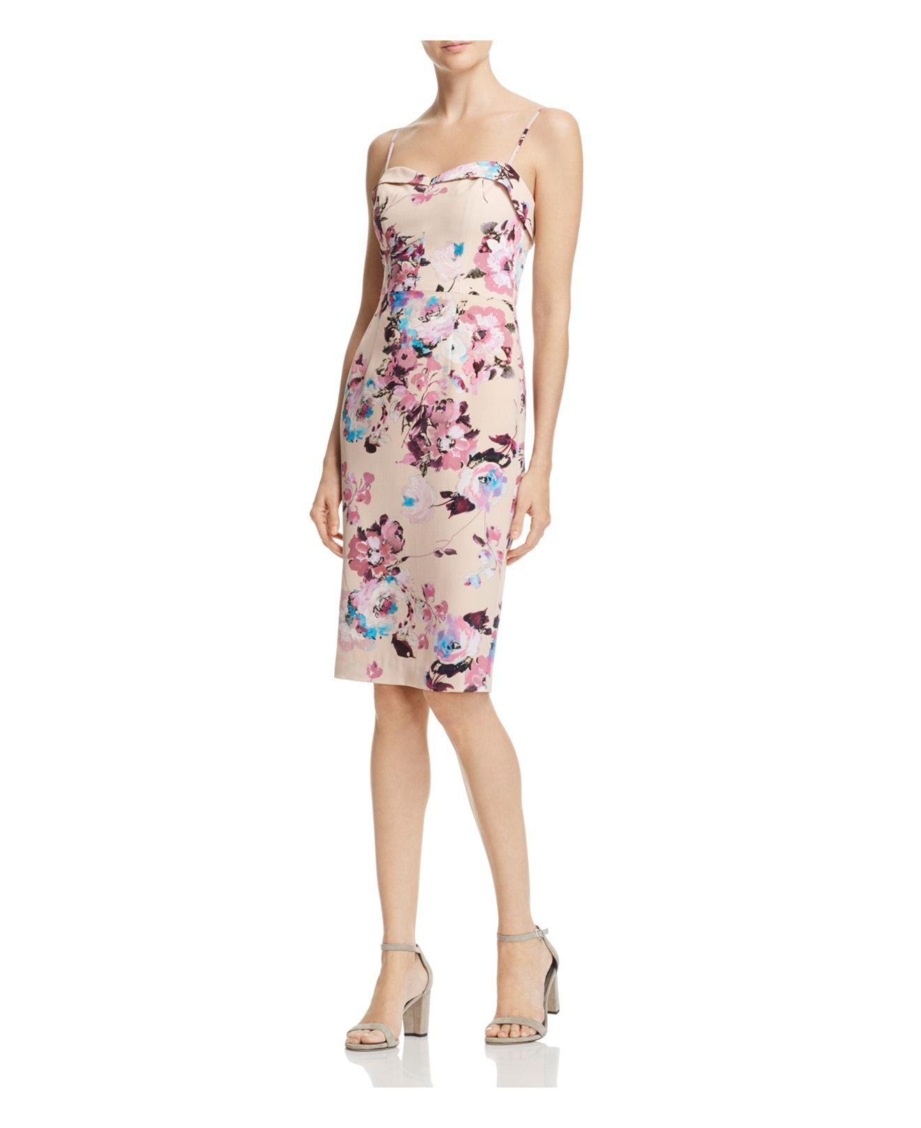 8256bc49e89 Lyst - Black Halo Clover Floral-print Dress in Pink