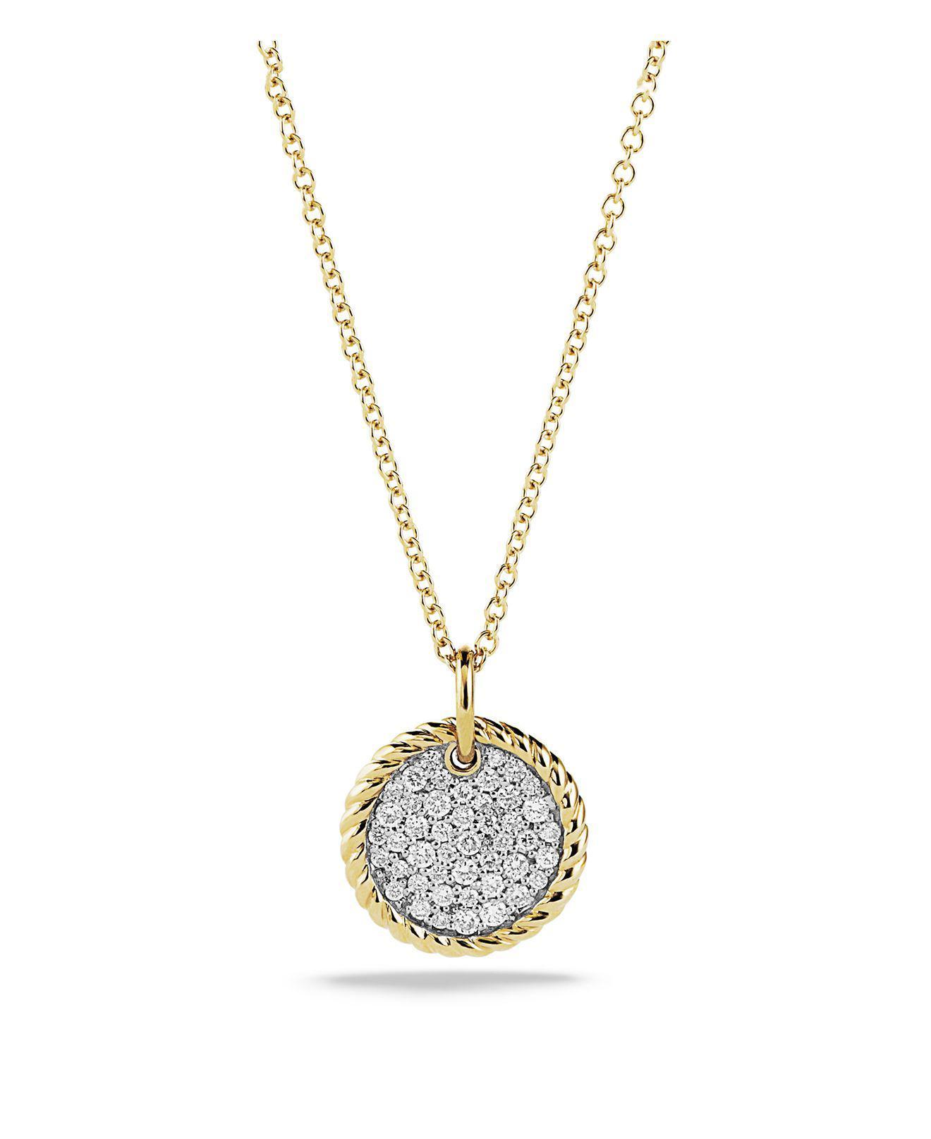 18kt yellow gold Cable Collectibles petit diamond pav qwcvtapL