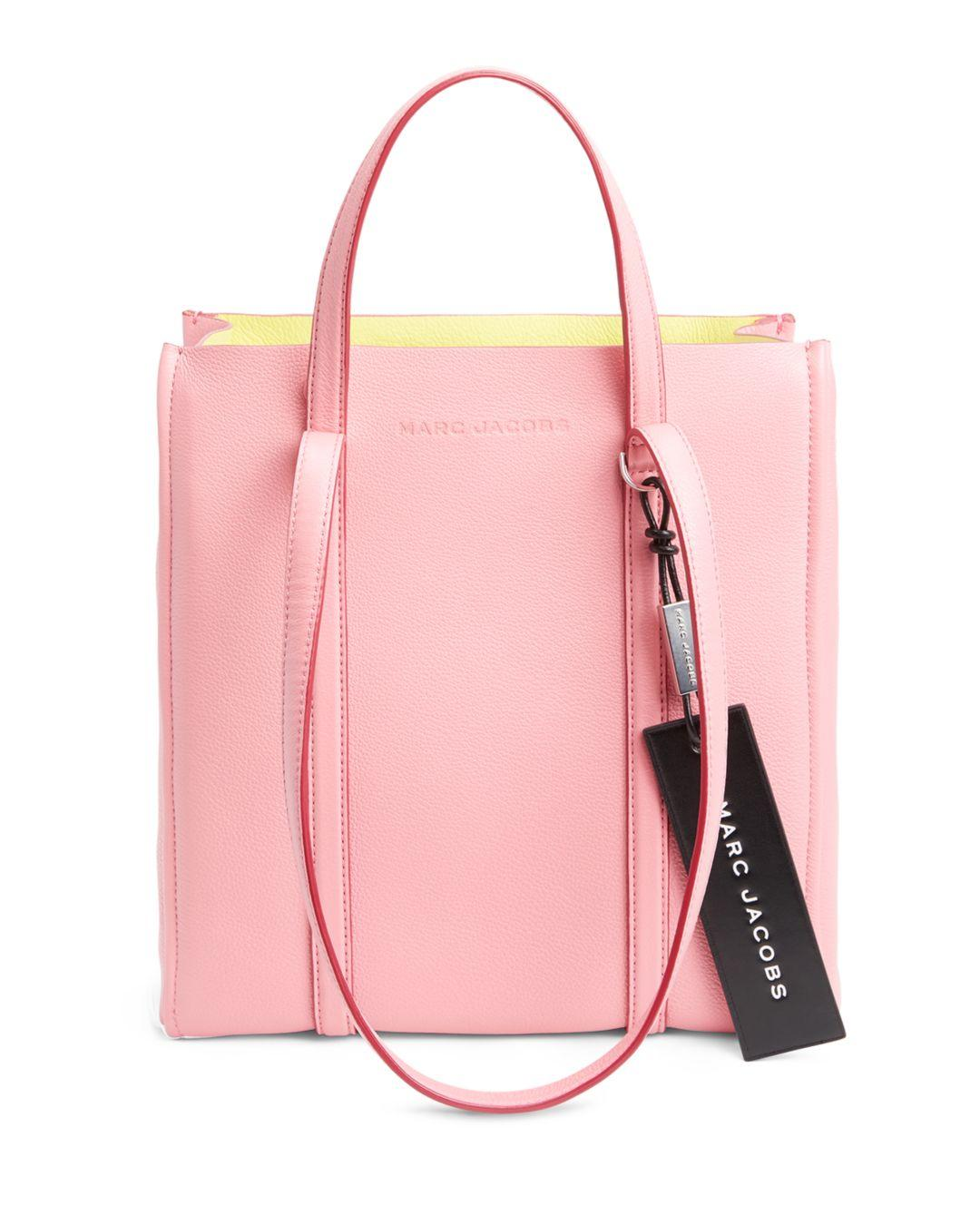 d7d2b0438ce9 Marc Jacobs - Pink Tag Leather Tote 27 - Lyst. View fullscreen