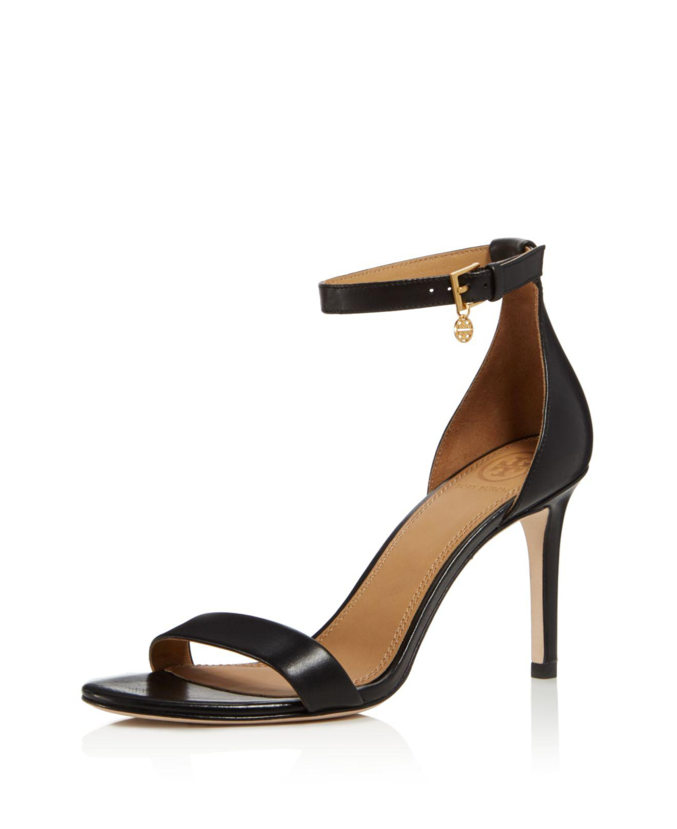 Tory Burch Women's Ellie Leather High-Heel Ankle Strap Sandals vn2vt