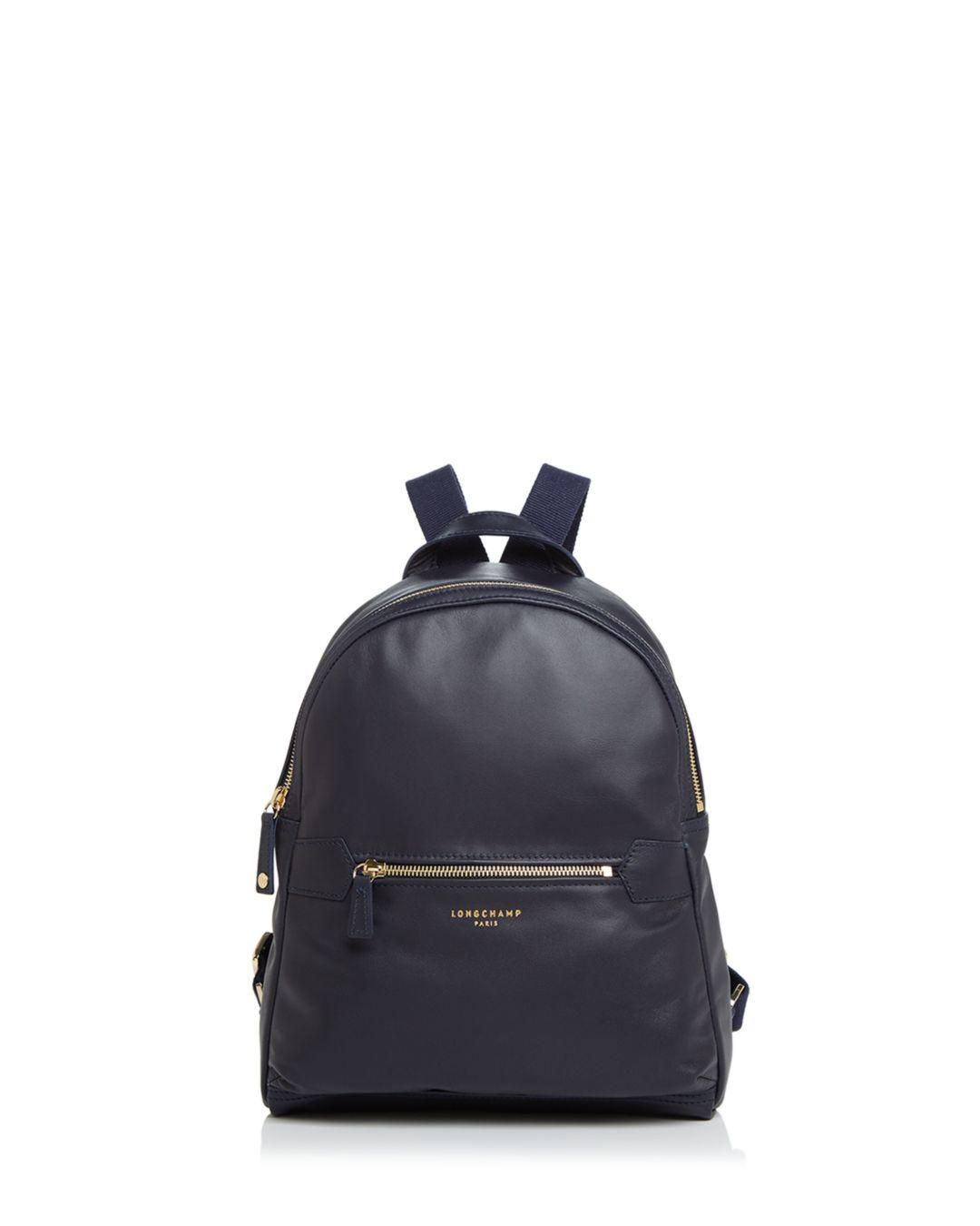 ae9515a69546 Lyst - Longchamp 2.0 Leather Backpack in Blue