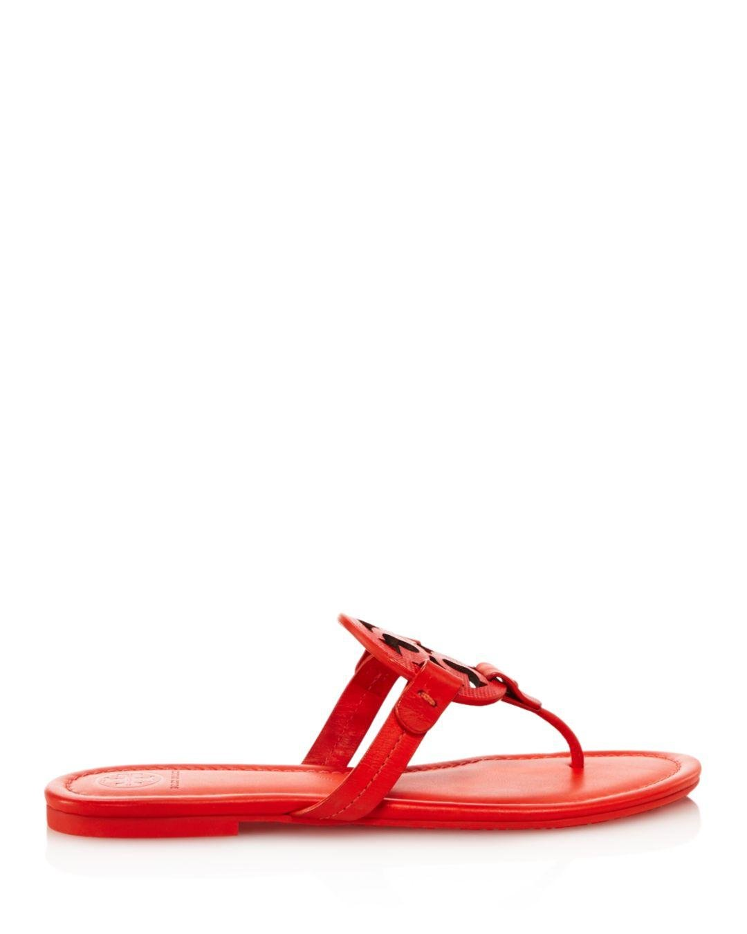 fa659e3947095 Lyst - Tory Burch Women s Miller Thong Sandals in Red