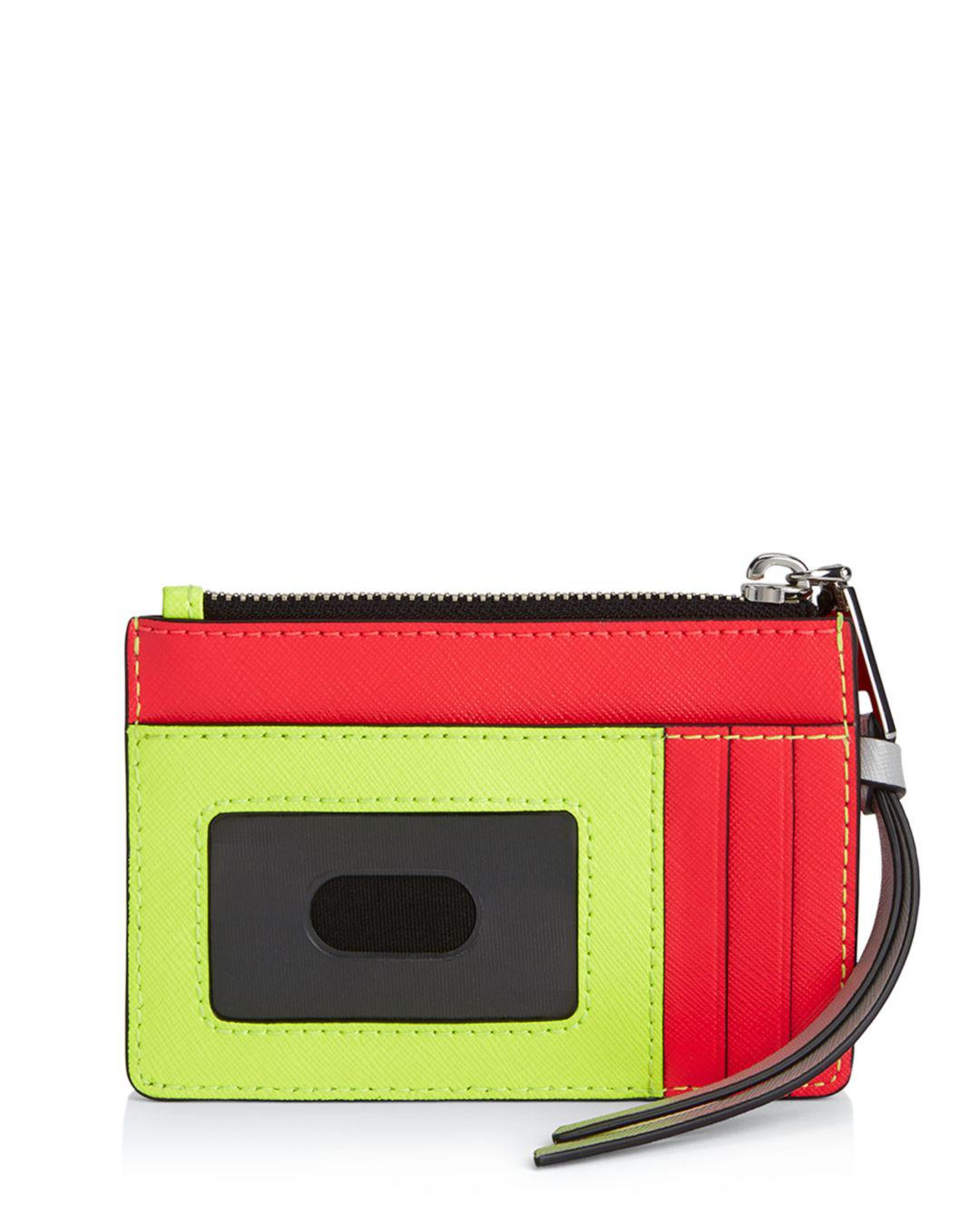 5ab5e2d0d8b1 Lyst - Marc Jacobs Top Zip Leather Multi Card Case in Yellow - Save 21%