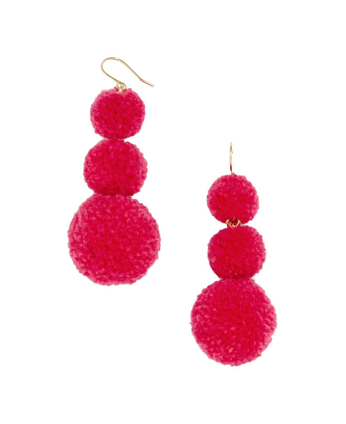 Panacea Multi-Bright Pompom Drop Earrings 0ancR6