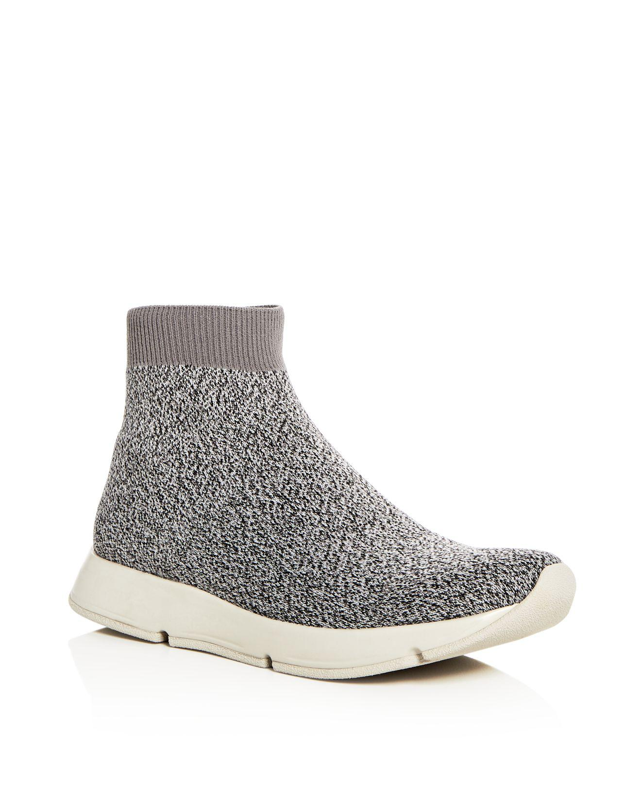 Vince Women S Tyra High Top Stretch Sock Sneakers In Gray
