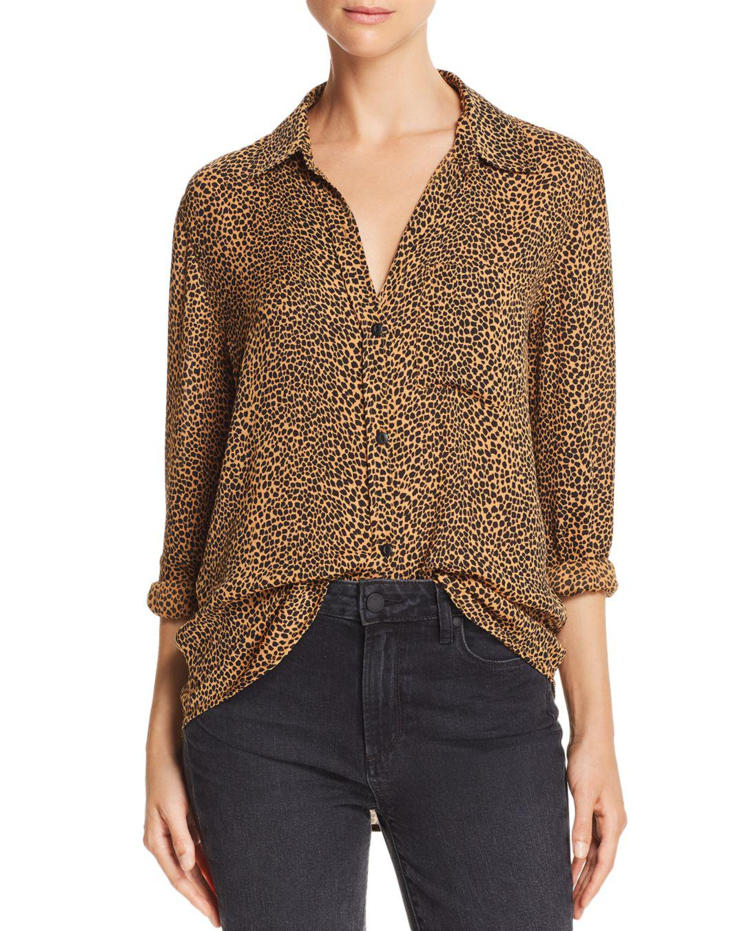 e567120728ce67 Current/Elliott The Derby Leopard Print Shirt in Brown - Lyst