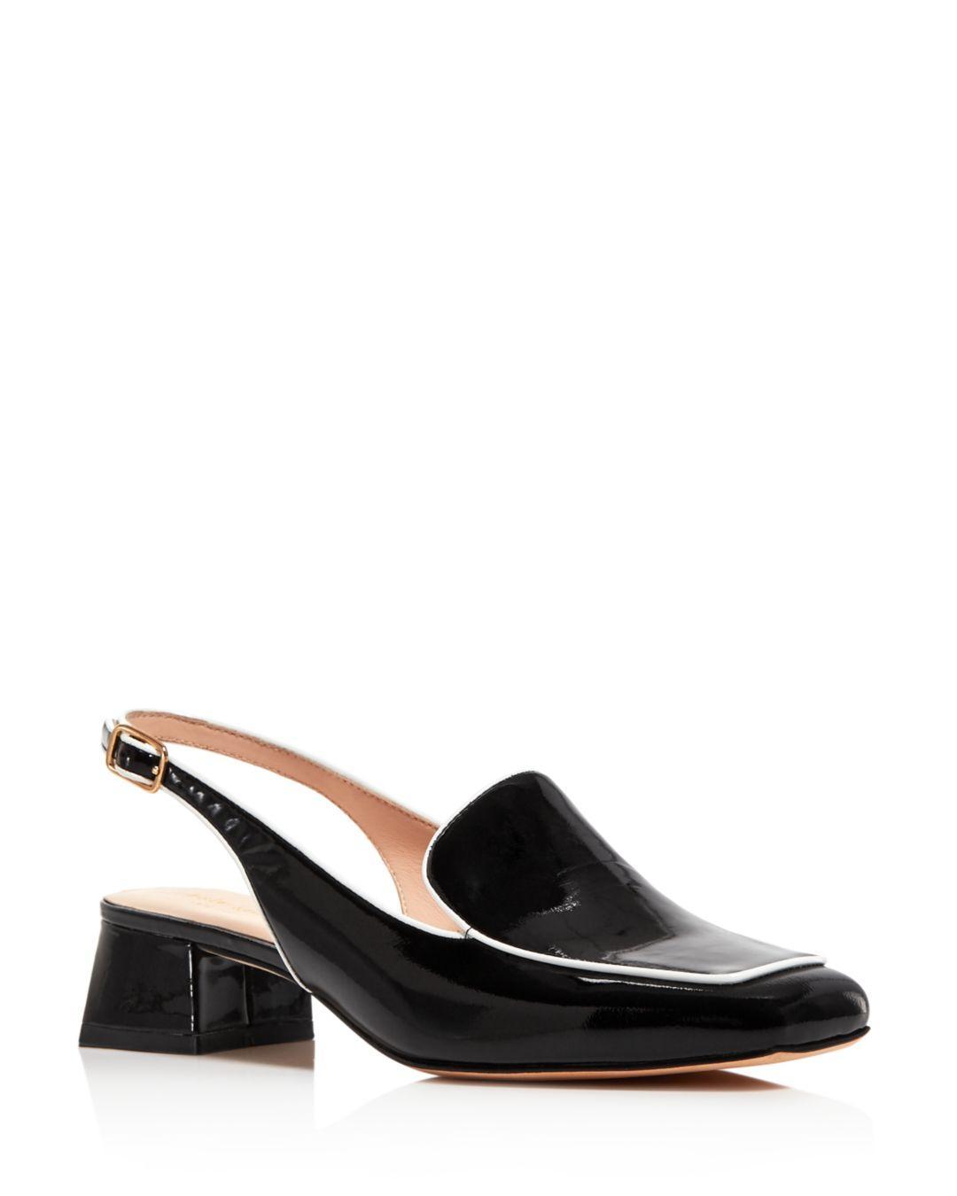 12e3d0a8b77 Lyst - Kate Spade Women s Sahiba Block Heel Slingback Loafers in Black