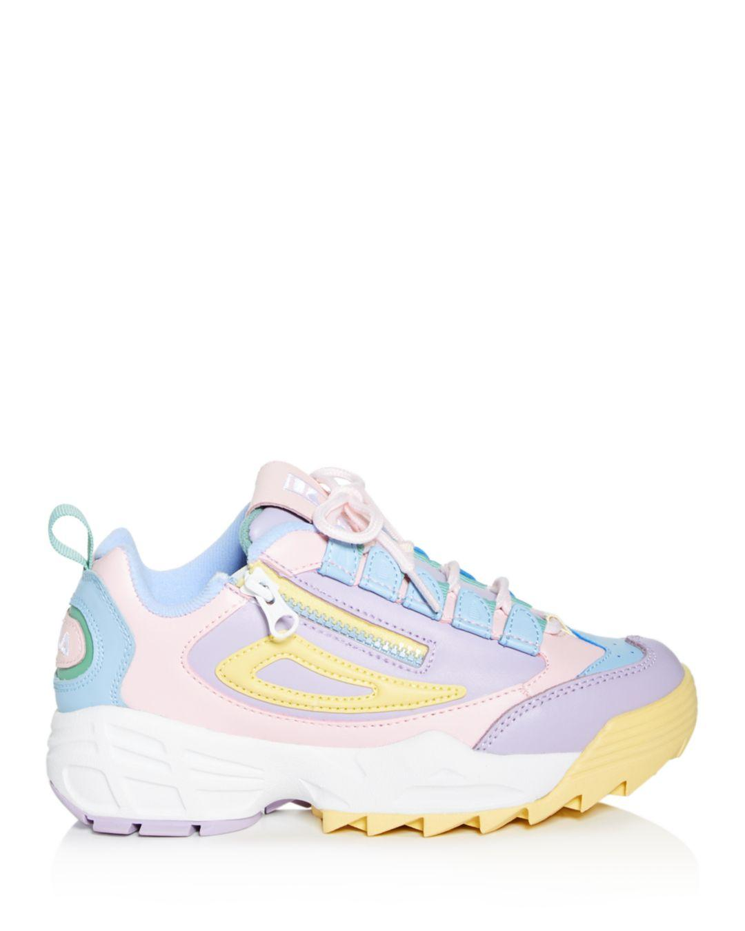 17cab7eba2b5 Fila Women s Disruptor 3 Zip Low-top Sneakers - Lyst