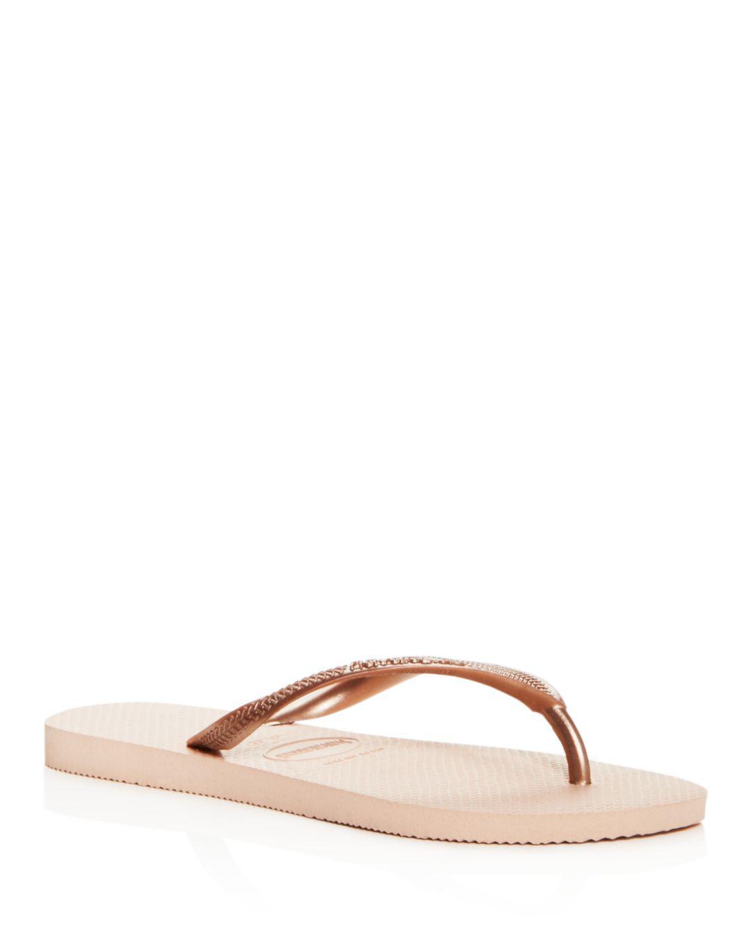 2441d6331661 Havaianas Women s Slim Flip-flops in Pink - Lyst