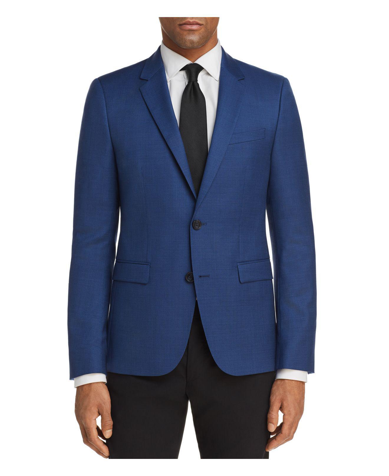 HUGO. Men's Blue Astian Slim Fit Nailshead Suit Separates Jacket