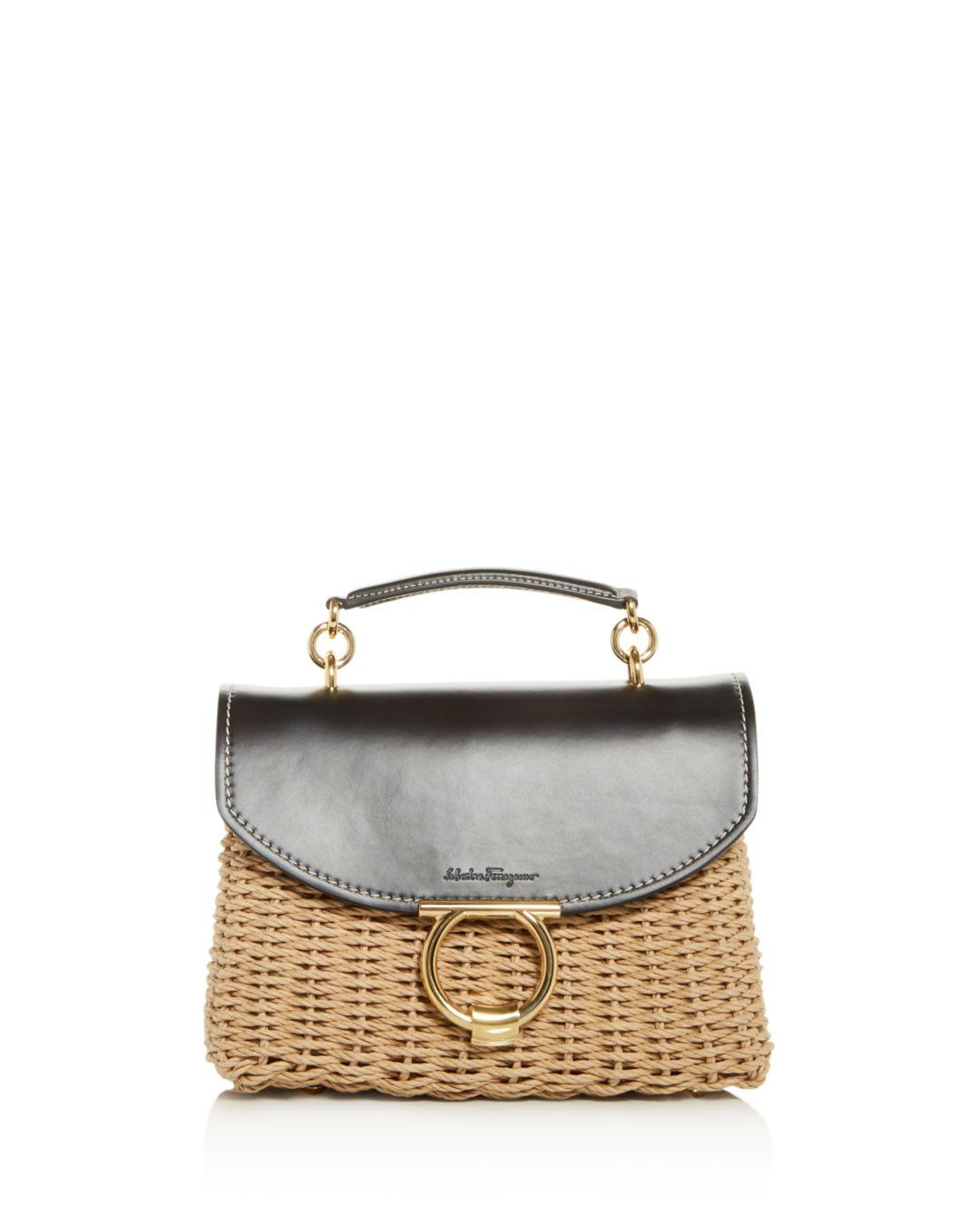 beb74297e1b1 Ferragamo. Women s Margot Small Wicker Shoulder Bag