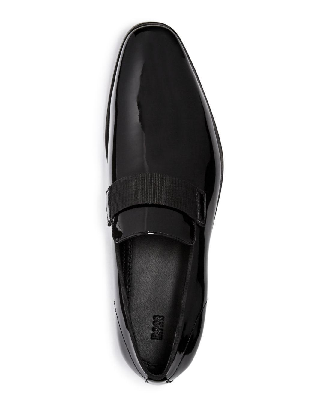 35697c78acd Lyst - BOSS Men s Highline Patent Leather Loafers in Black for Men