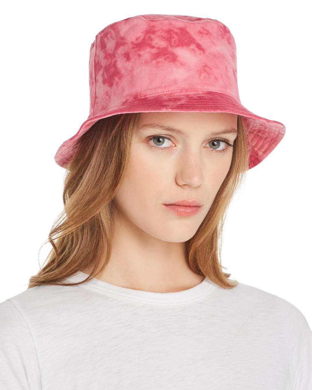 e4fb81e8 Aqua - Pink Tie-dye Bucket Hat - Lyst. View fullscreen